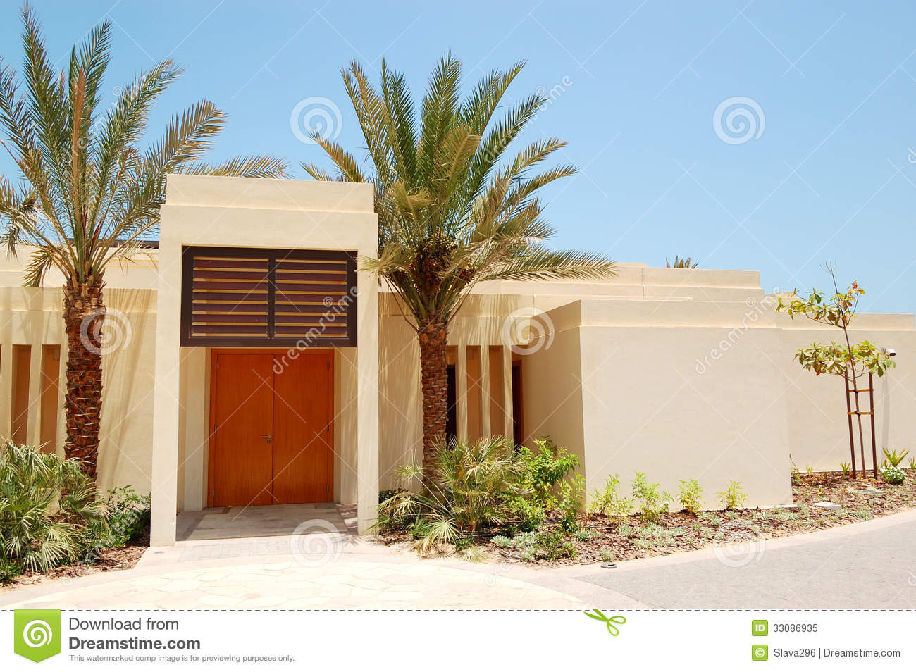 The arabic style modern villa at luxury hotel royalty free for Style de villa moderne