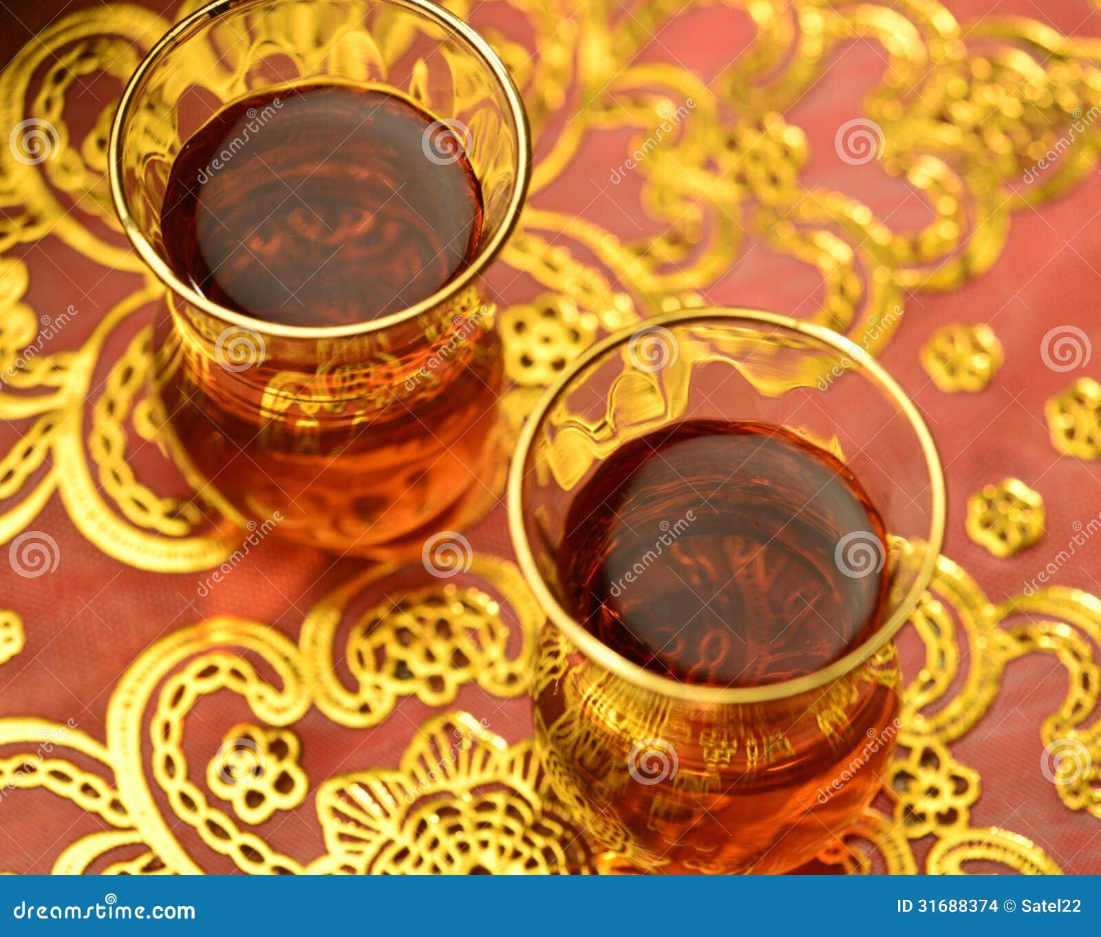 Arabic tea stock photo. Image of dates, basket, angle ...