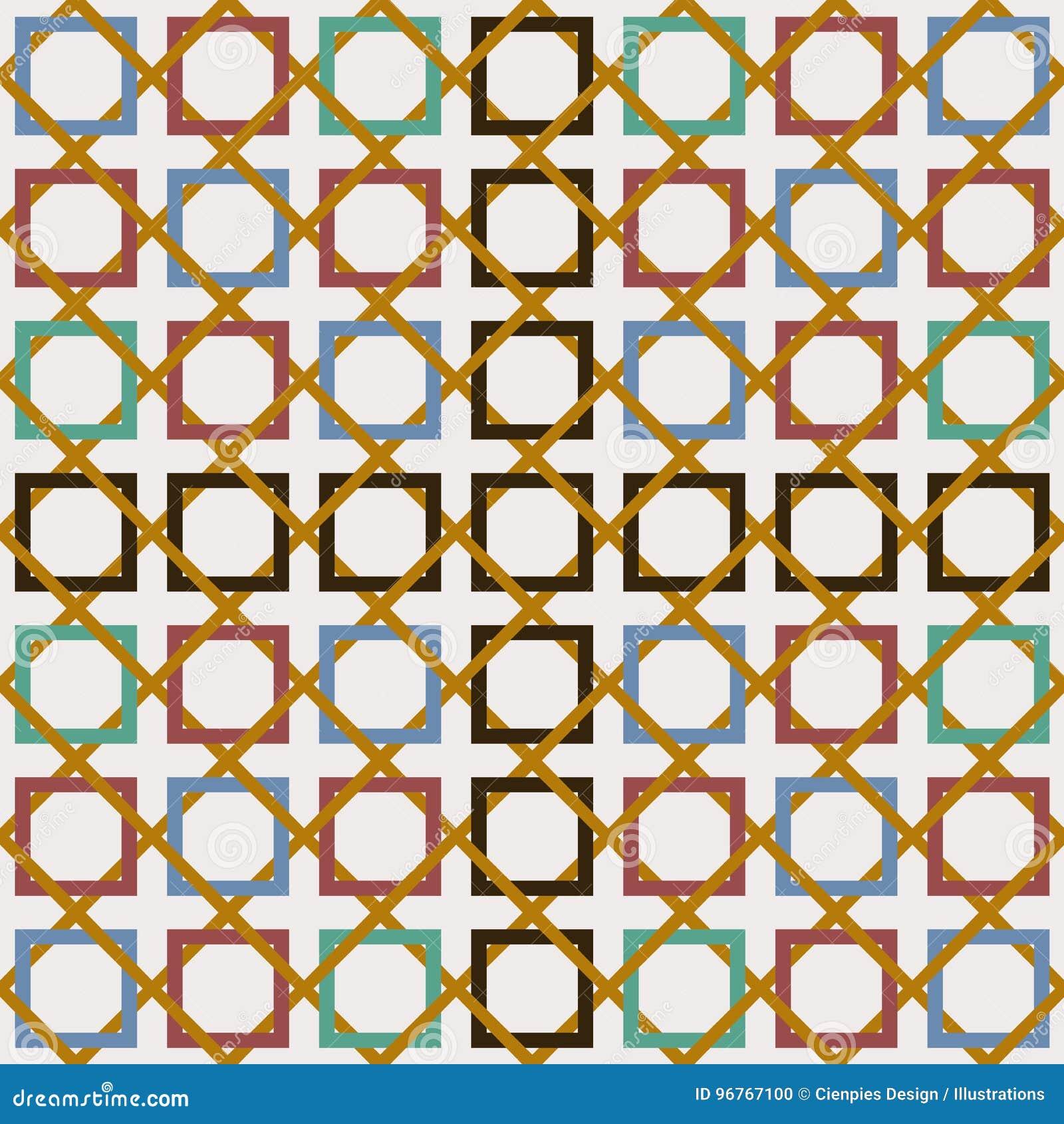 arabic tile seamless pattern decoration mosaic art stock vectorarabic tile seamless pattern decoration mosaic art