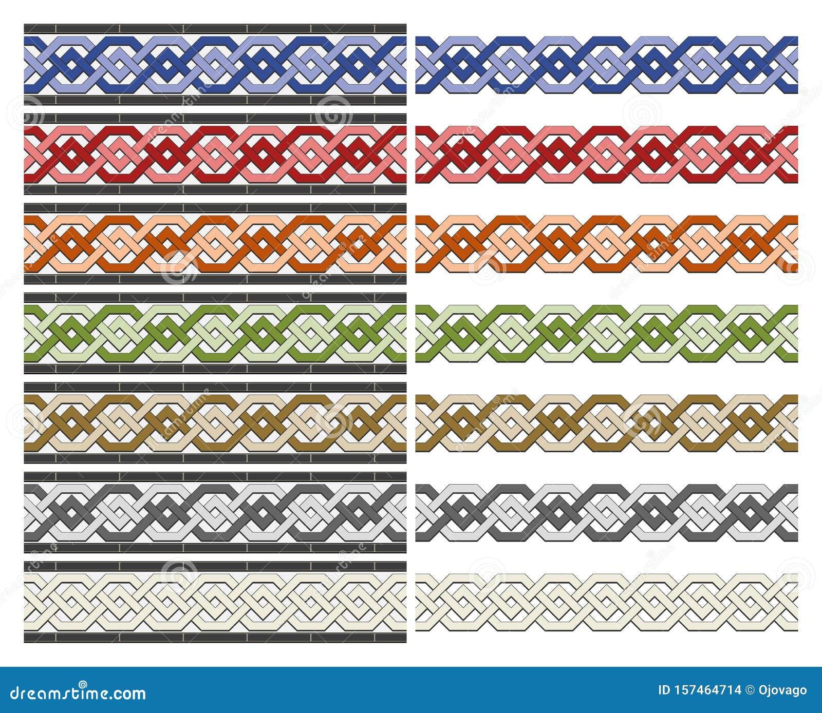 Arabic tiles seamless pattern