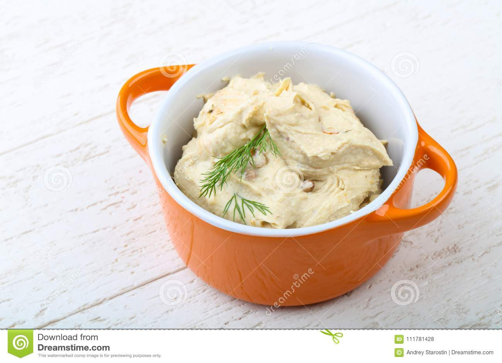 Arabic traditional cuisine - hummus