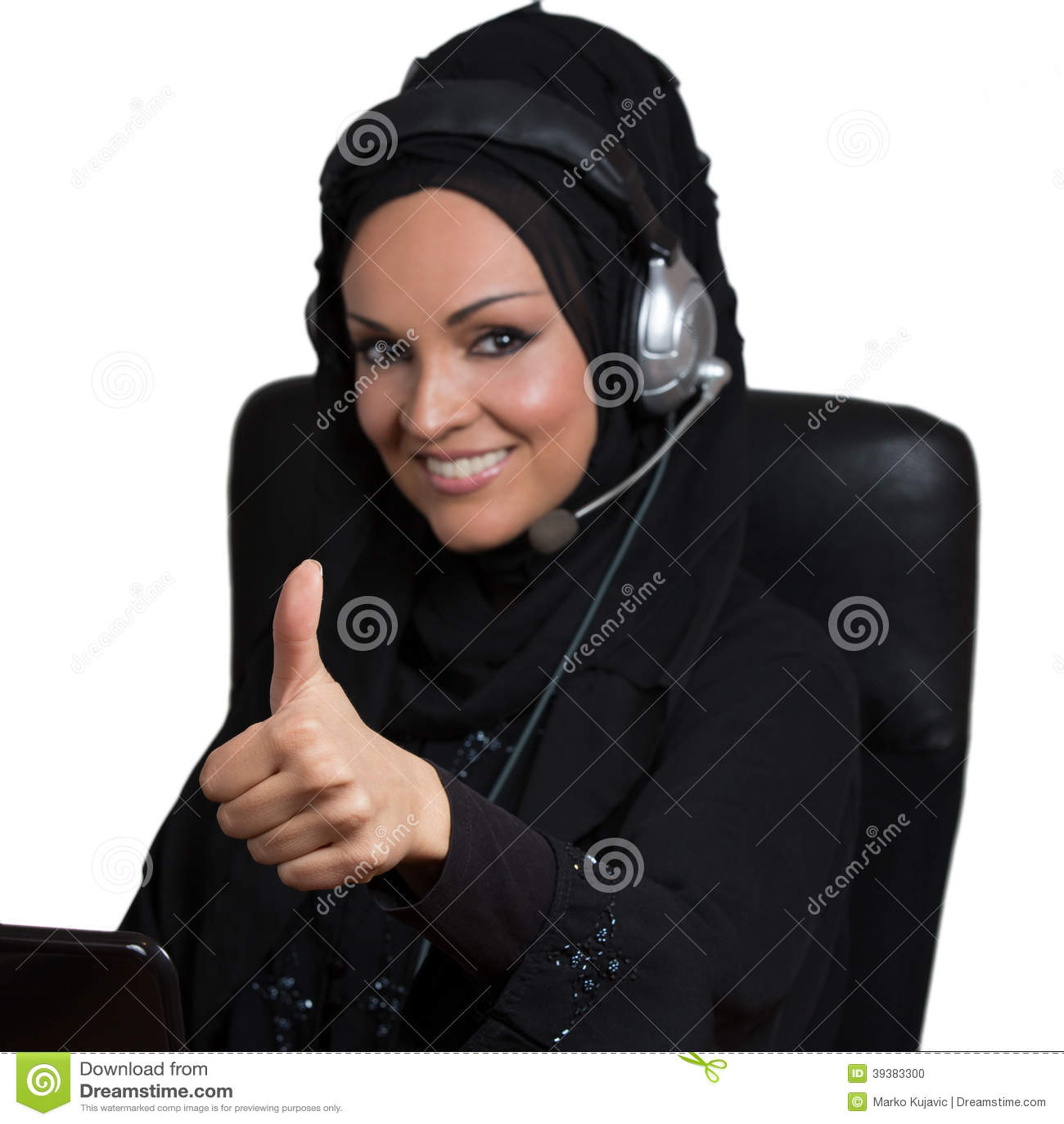arabic w working as a customer service representative stock arabic w working as a customer service representative