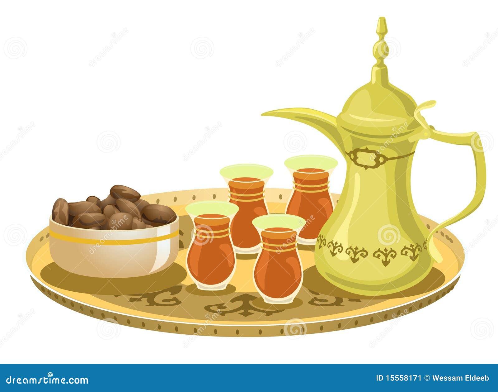 Arabisch Theestel met Data 2