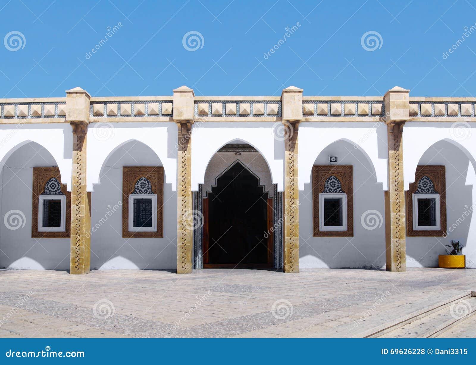 Arabische architectuur bij loubnan moskee, agadir stock ...