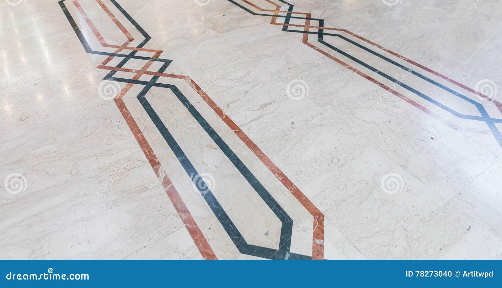 Arabische Boden Dekoration Mit Verschiedenen Farben Des Marmors