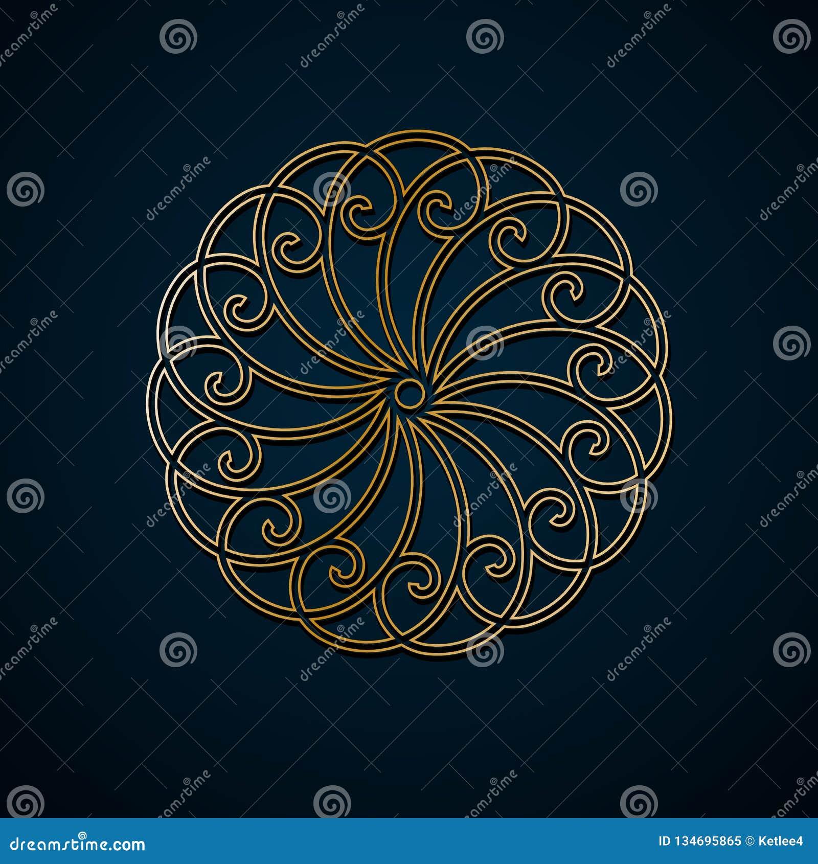 arabische geometrische, runde mit blumenverzierung, muster