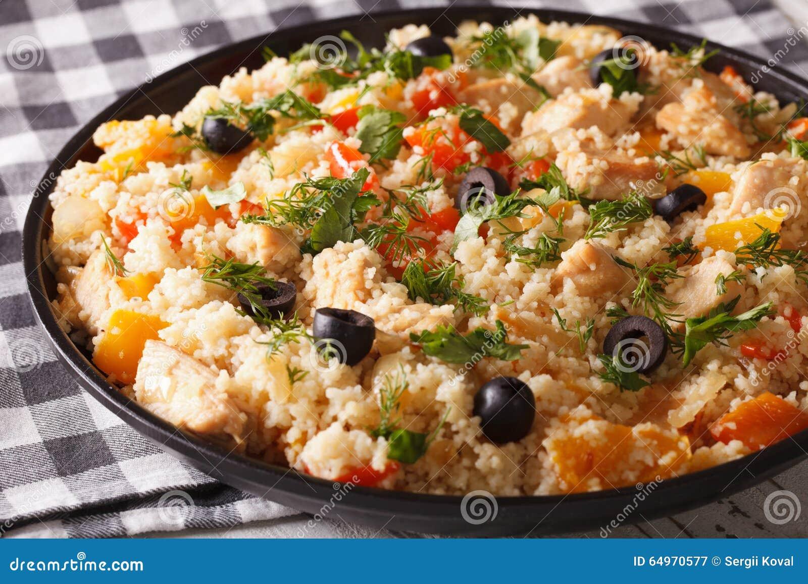 Салат из кускуса с овощами рецепт пошагово