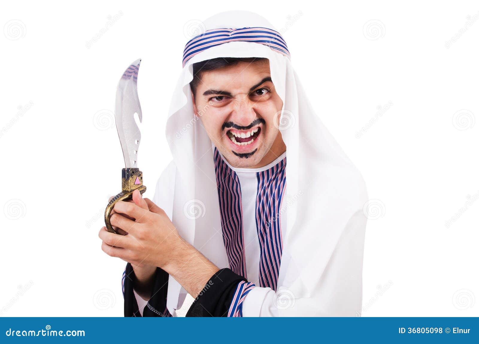 Arabische mens met mes