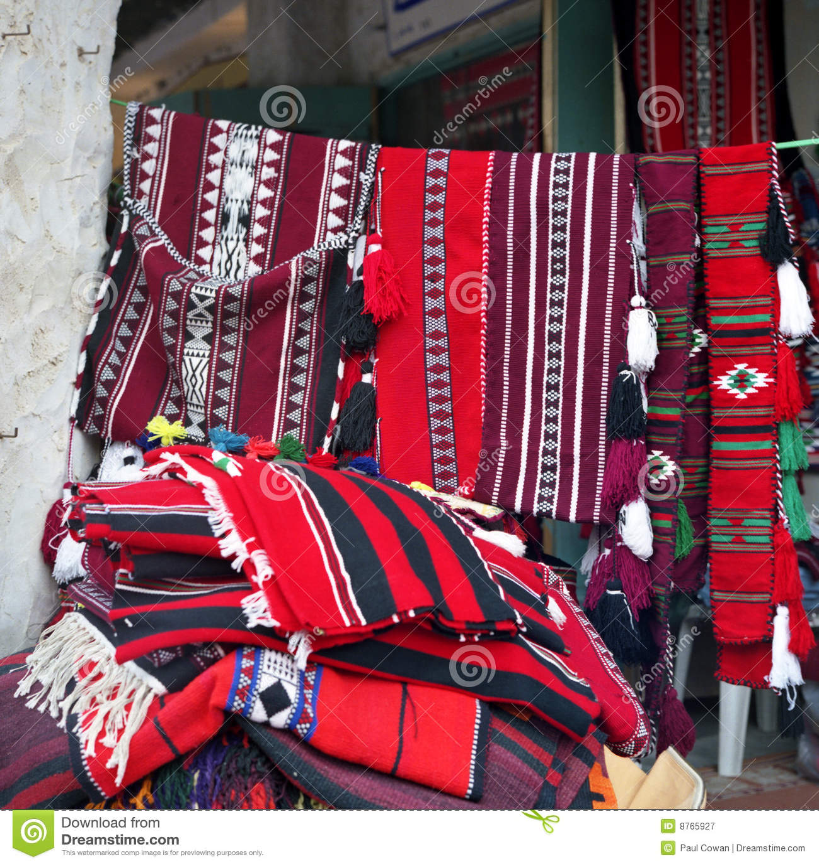 Arabische textiel op verkoop