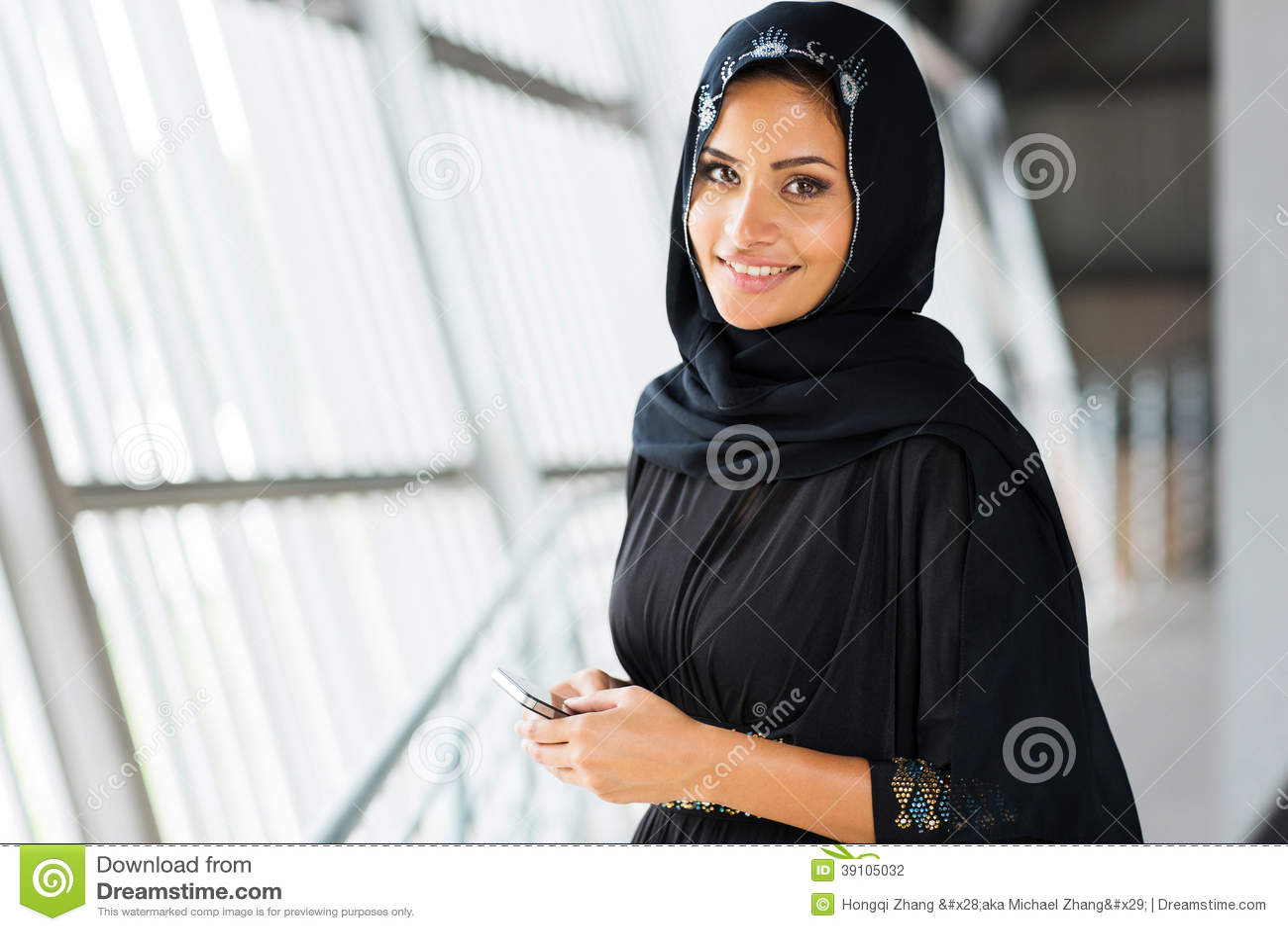 Arabische vrouwen slimme telefoon