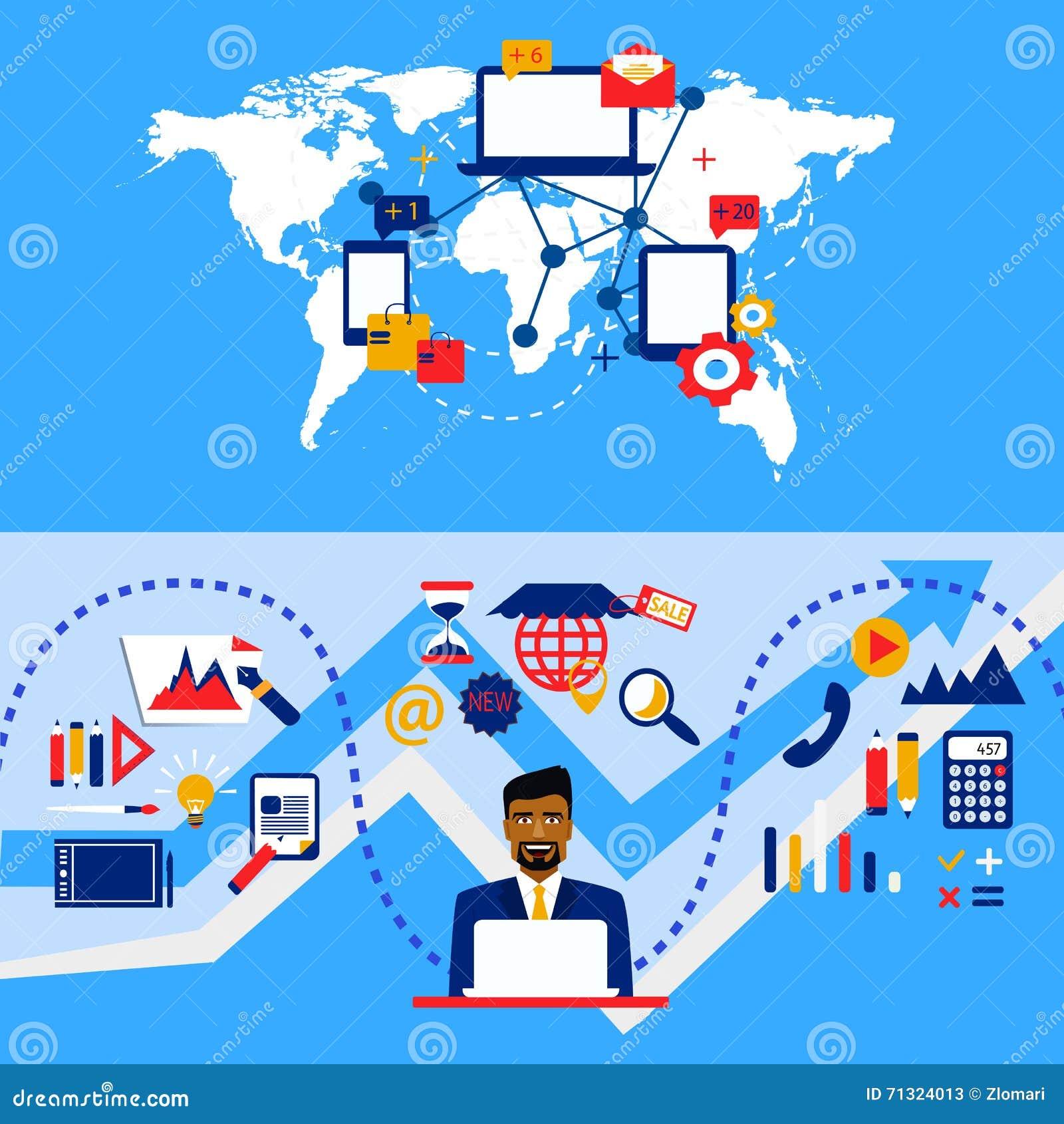 Arabische zakenman en internationale samenwerking Het werkstrategie Van Grafische ontwerp en boekhouding aan beheer