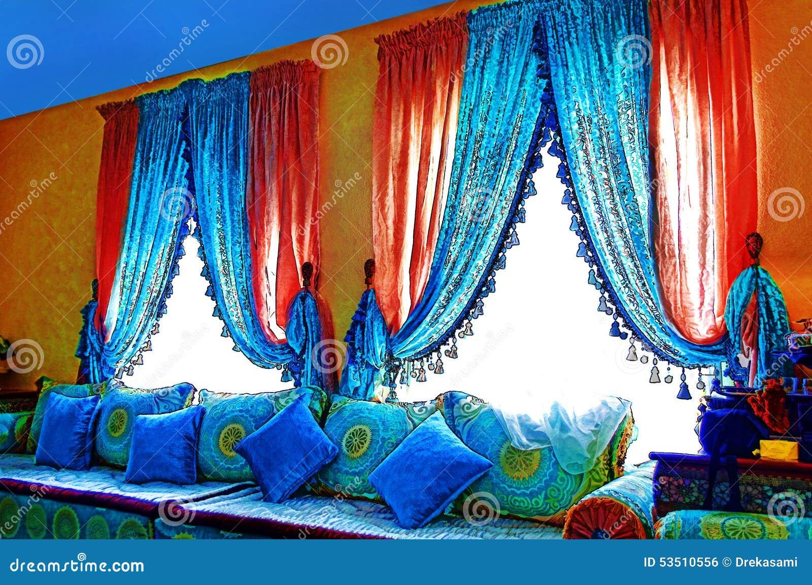 arabisches wohnzimmer stockfoto - bild: 53510556, Wohnzimmer