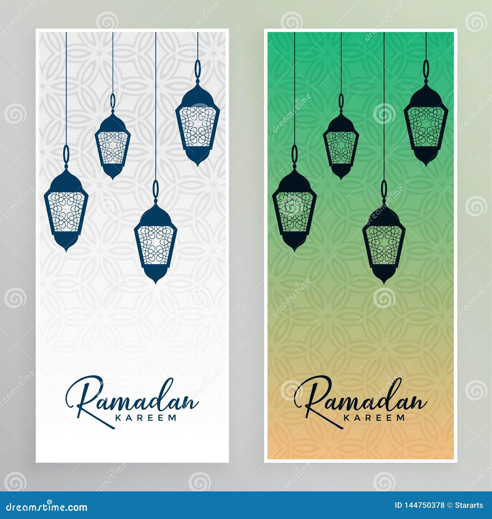 Arabiska lampor som hänger det ramadan kareembanret