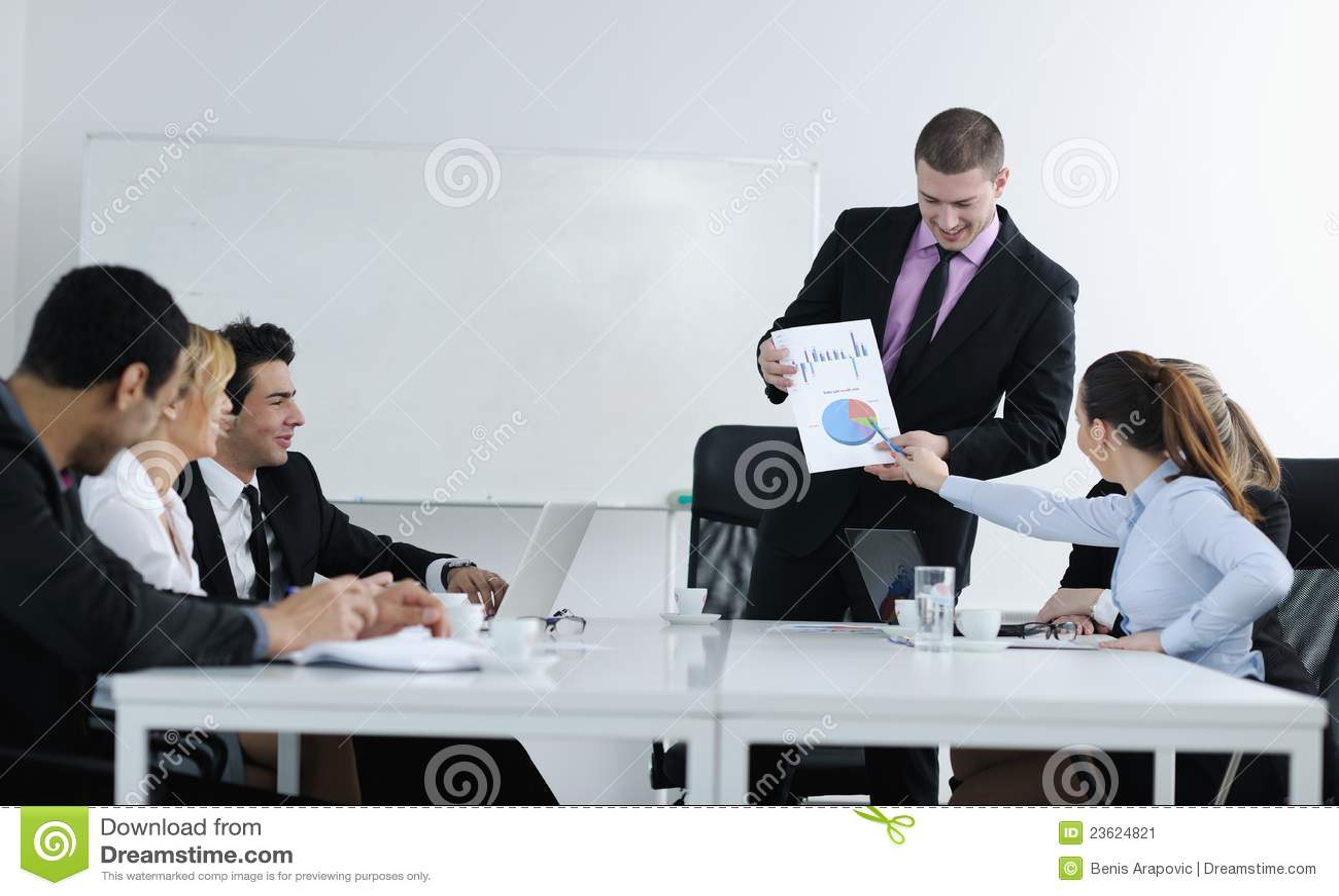 Arabiskt möte för affärsman