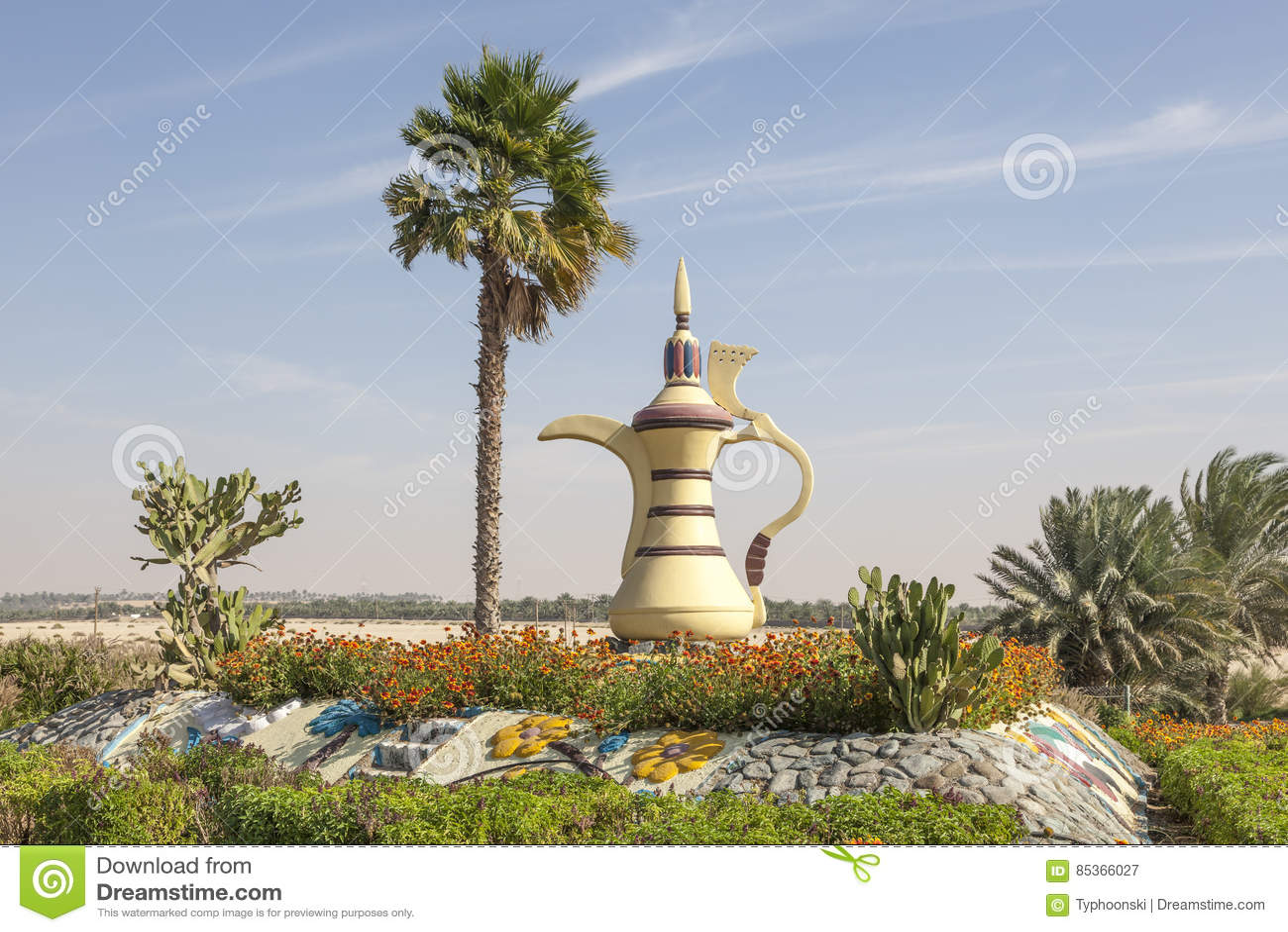 Arabski coffeepot w Mezairaa, UAE