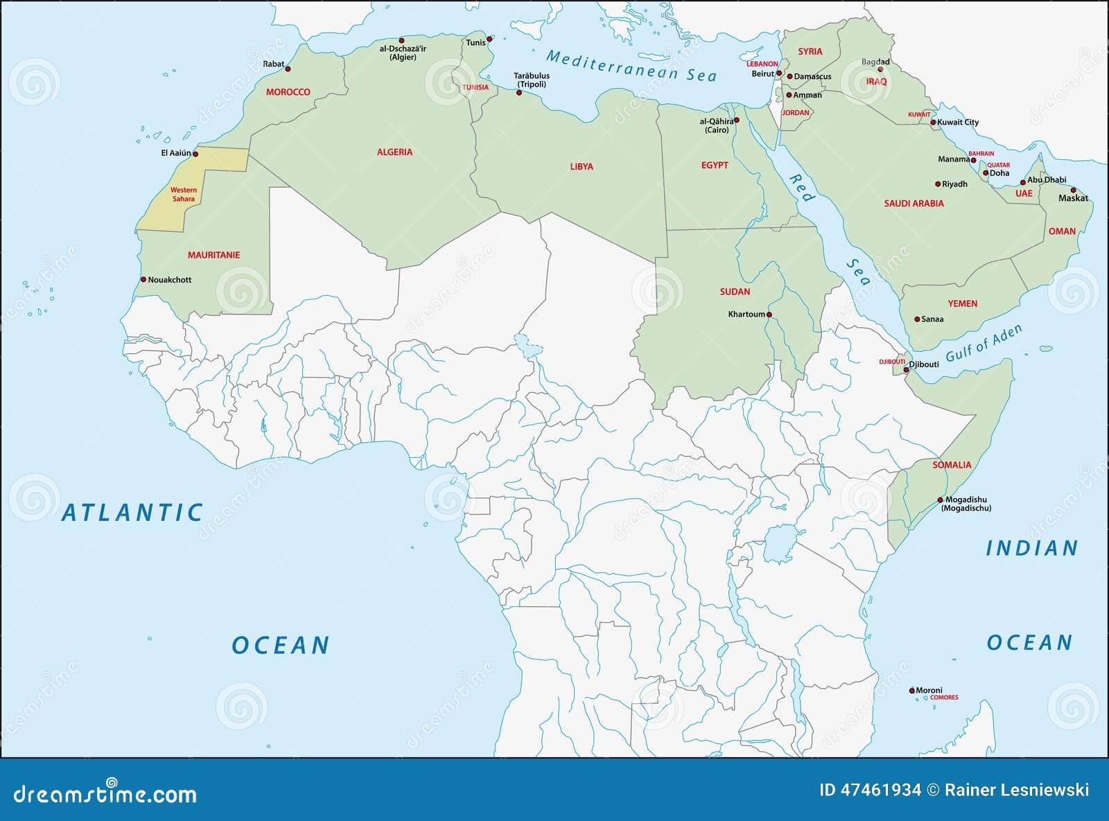 Arabskiego liga mapa