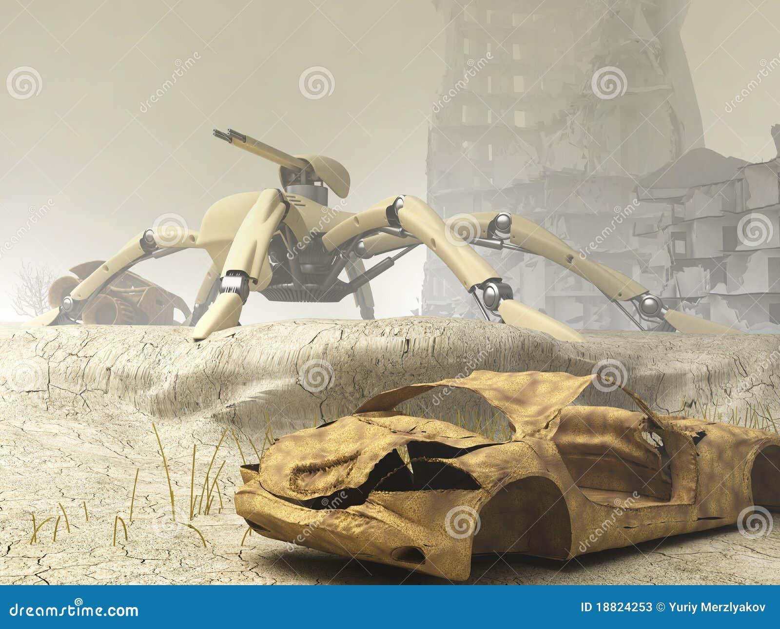 Arachnida mech on guard