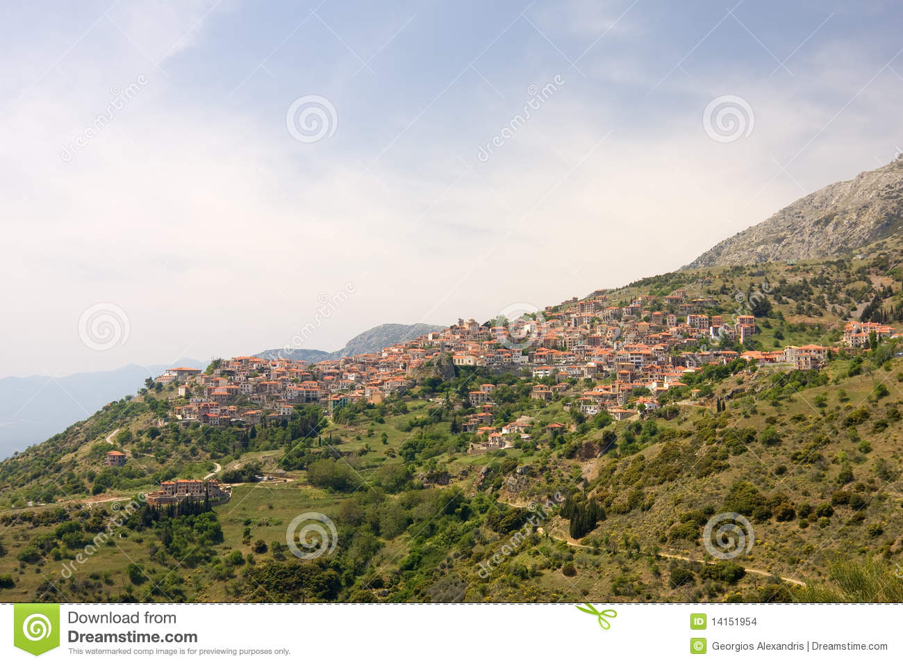 Arachova Greece  city images : Arachova, Greece, During Springtime Stock Images Image: 14151954