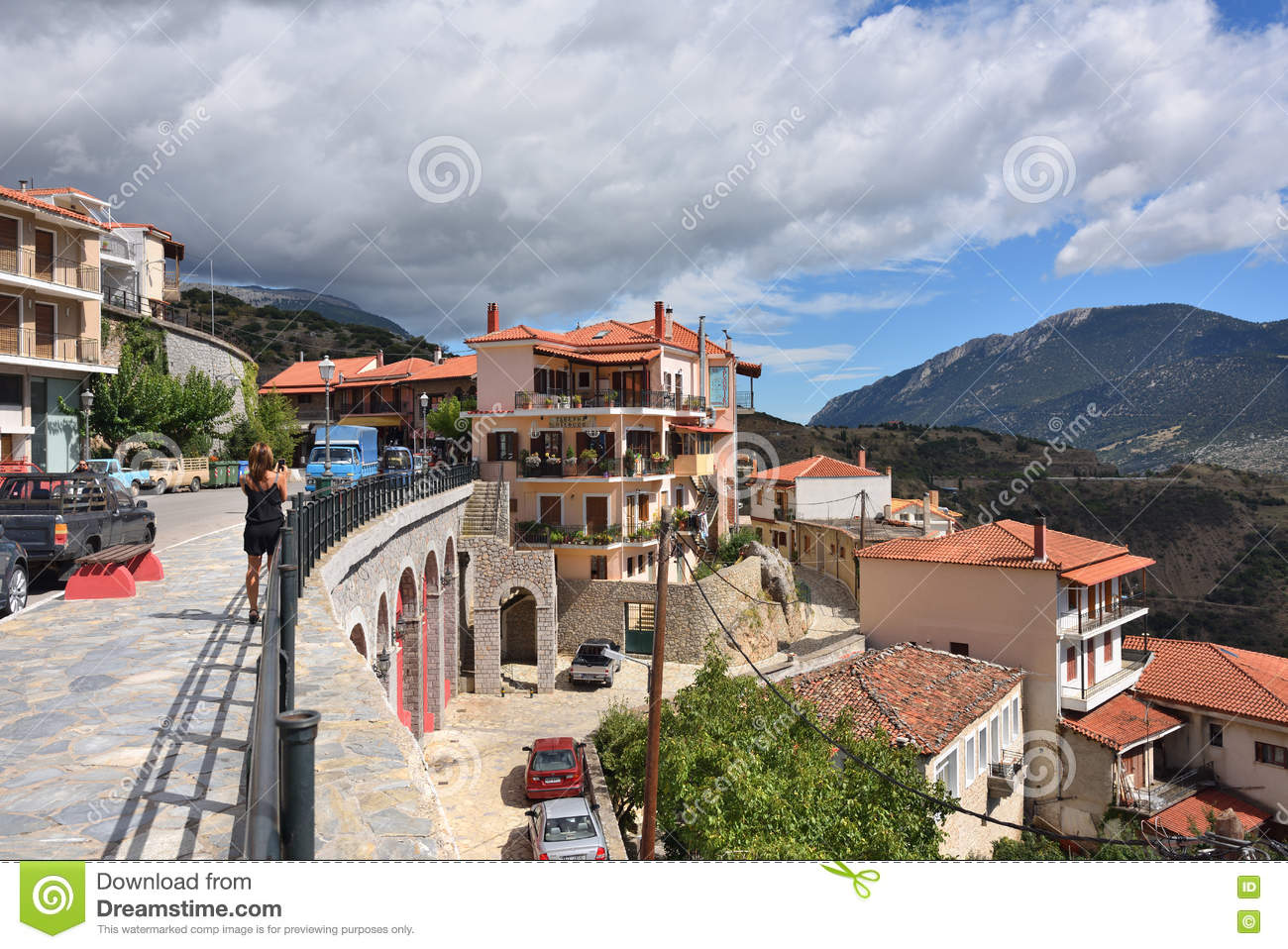 Arachova Village In Greece Editorial Photography - Image ...