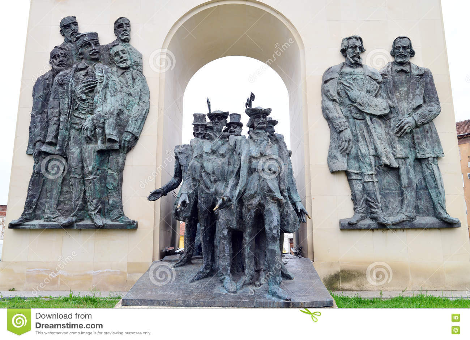 Arad reconciliation statue