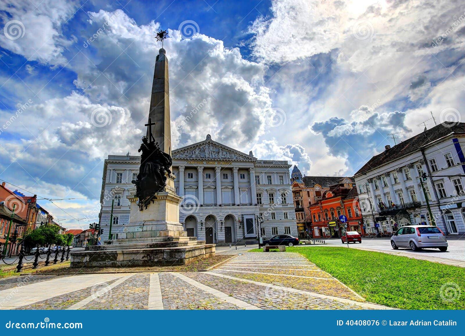 Arad Rumänien arad rumänien arkivfoto bild av bilar design obelisk 40408076