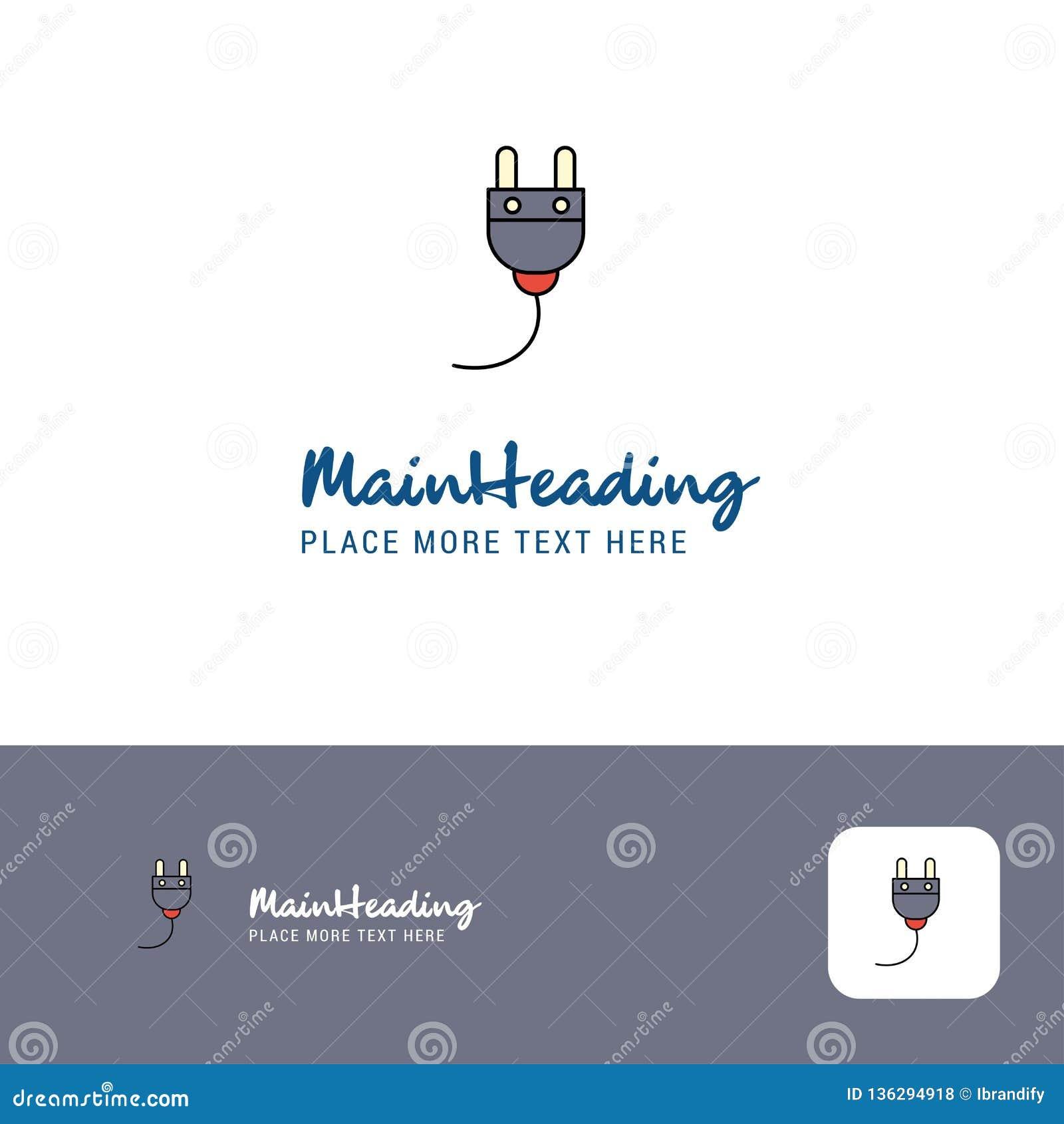 Arado creativo Logo Design Lugar plano del logotipo del color para el Tagline Ilustración del vector