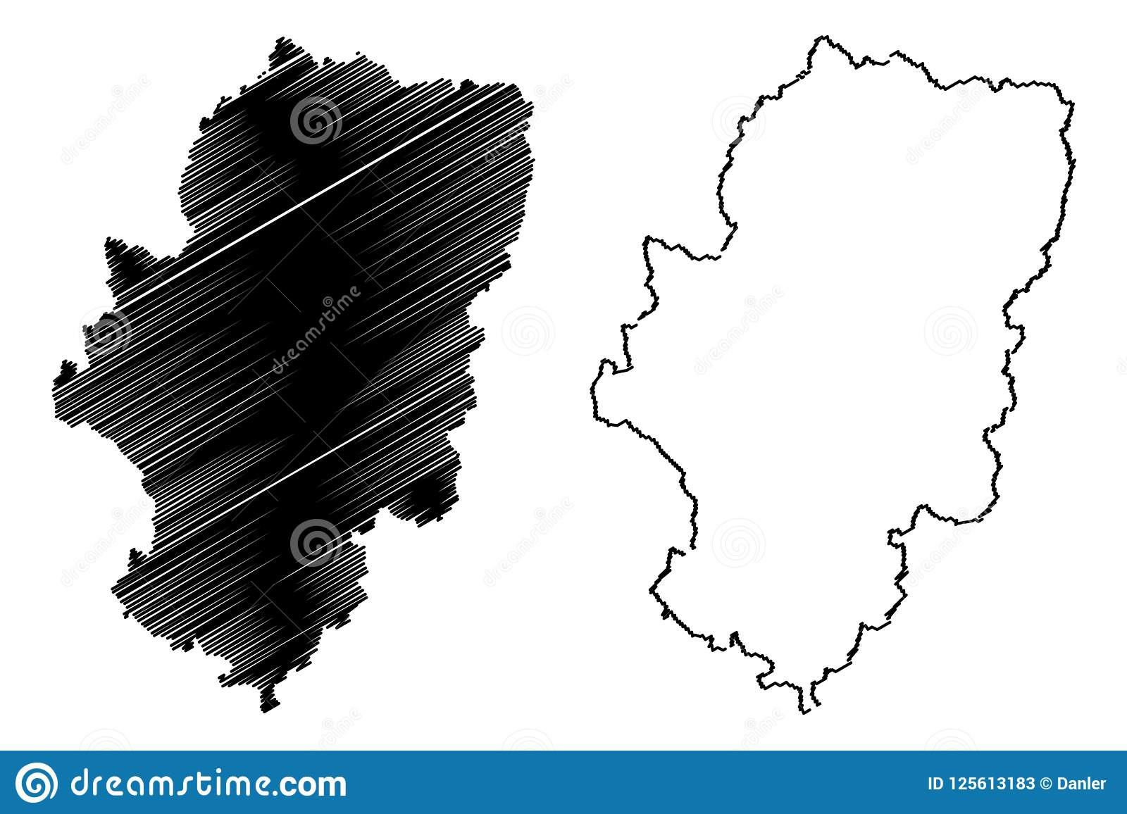 Aragon Map Vector Stock Vector Illustration Of Country 125613183