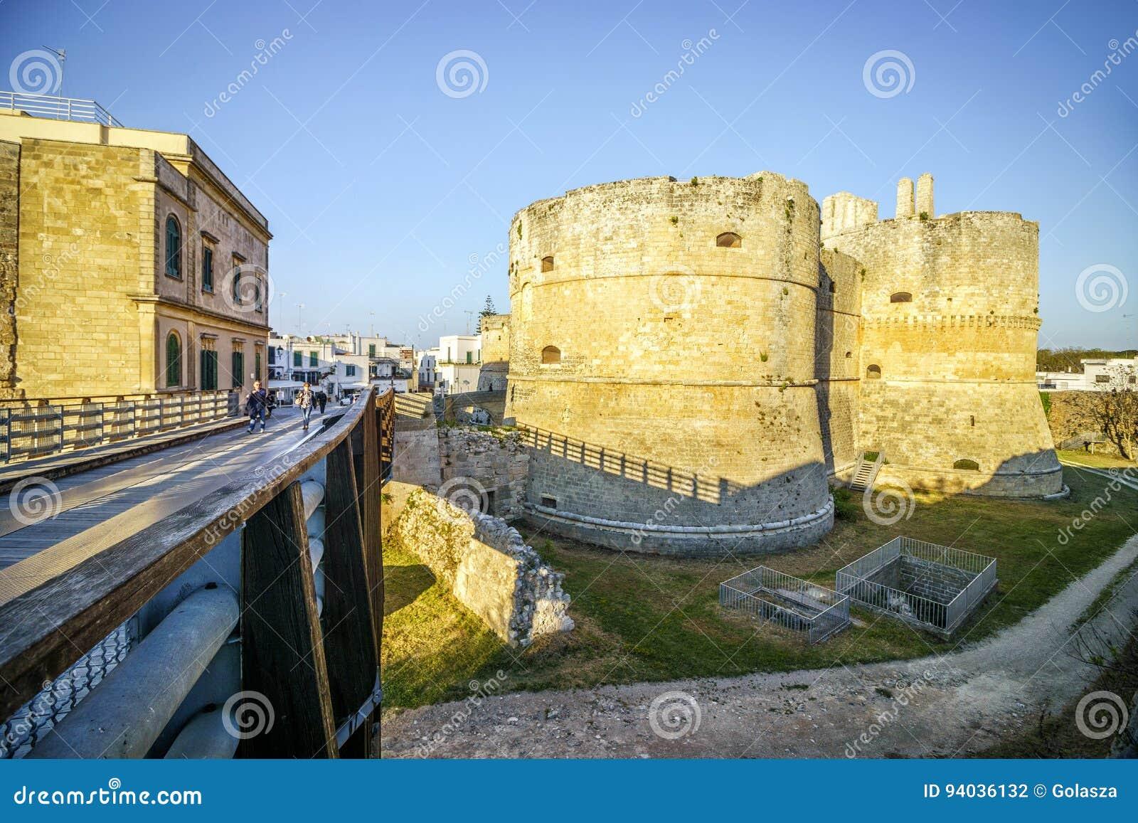 Aragonese城堡在奥特朗托,普利亚,意大利