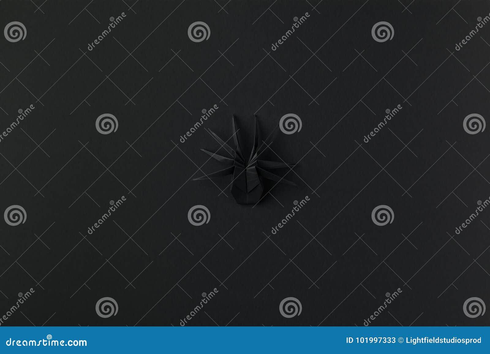 araignée d'origami pour halloween image stock - image du simplicité
