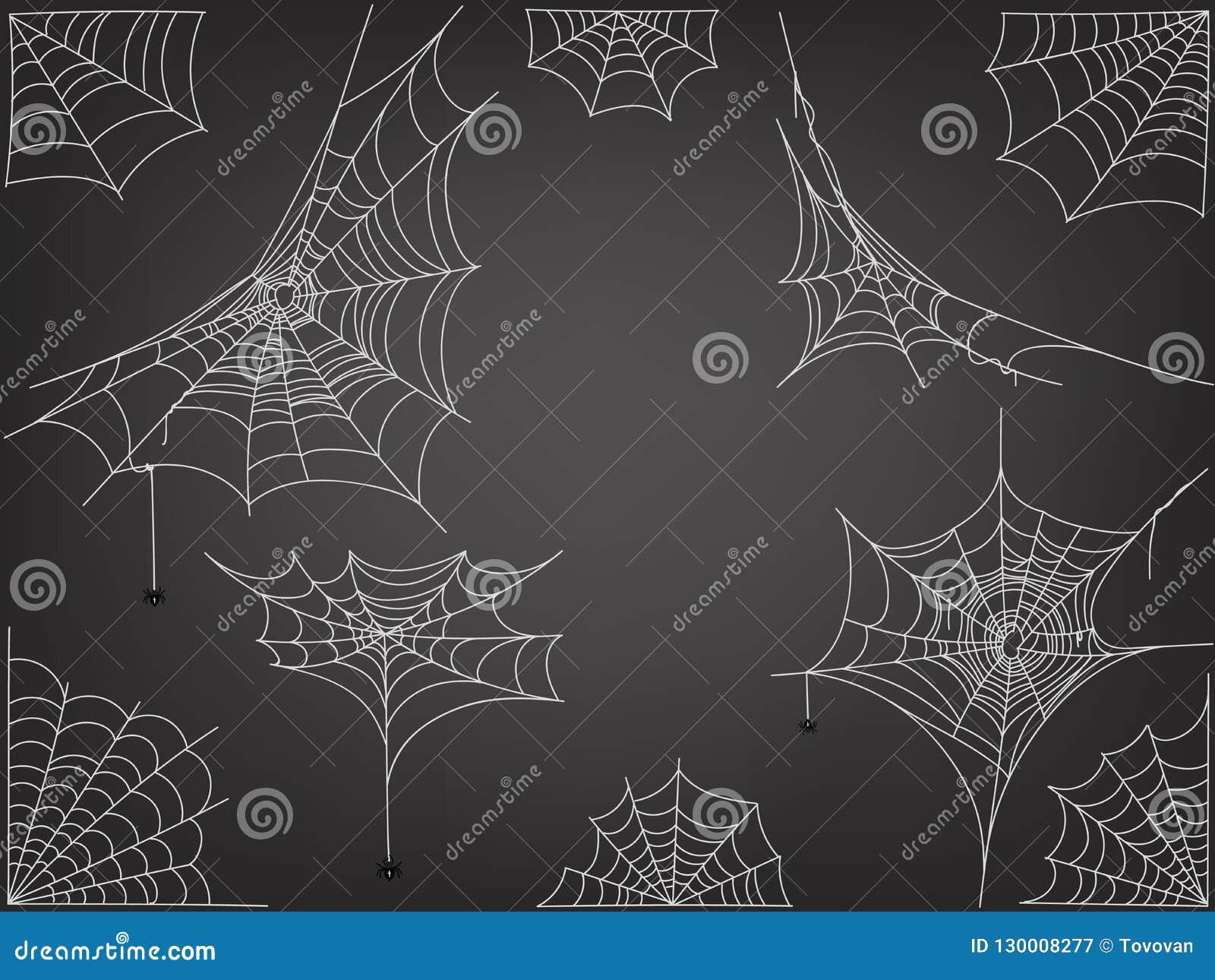 Araignées noires et vecteur différent de Web