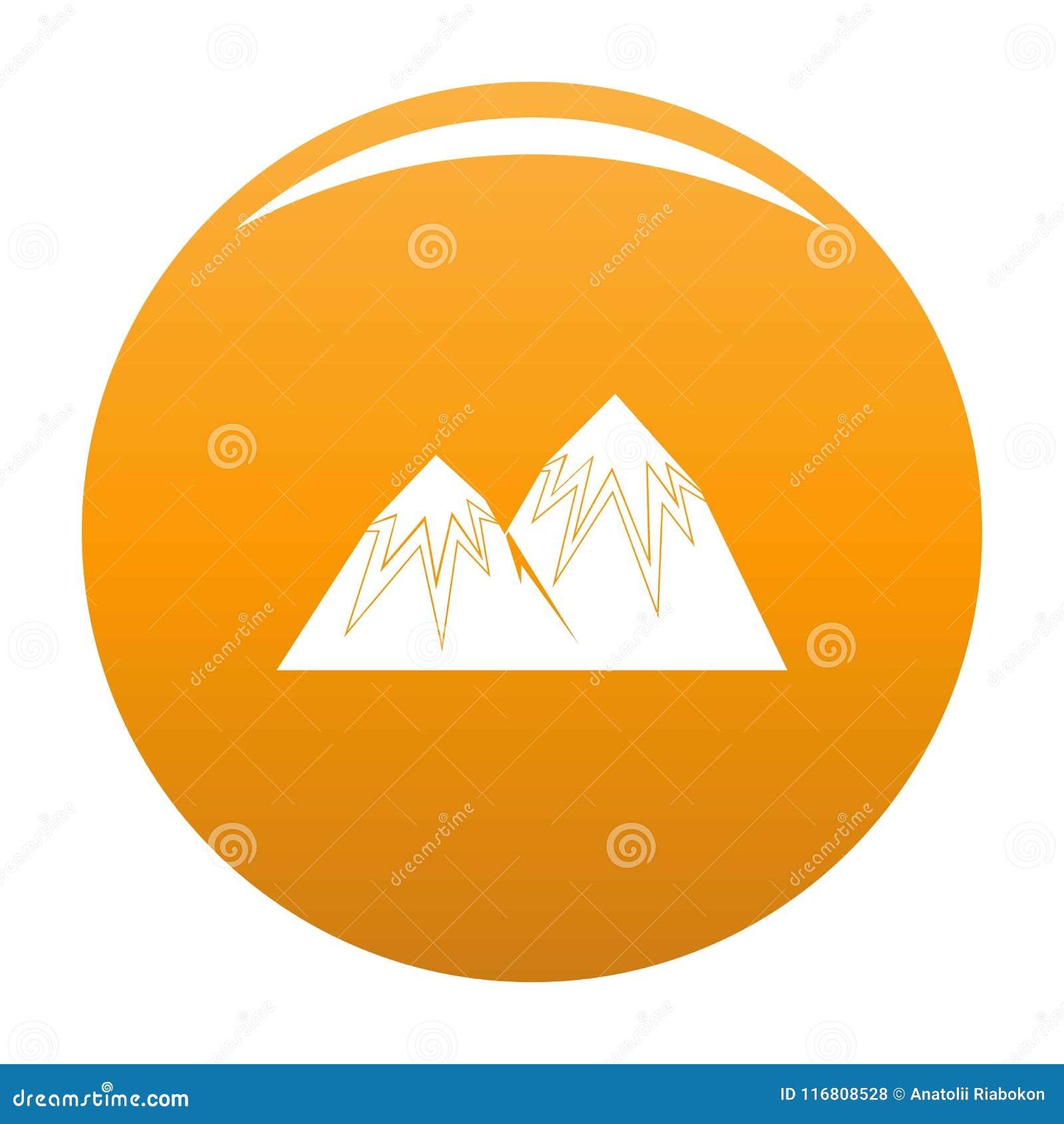 Arancia di punta di vettore dell icona della neve