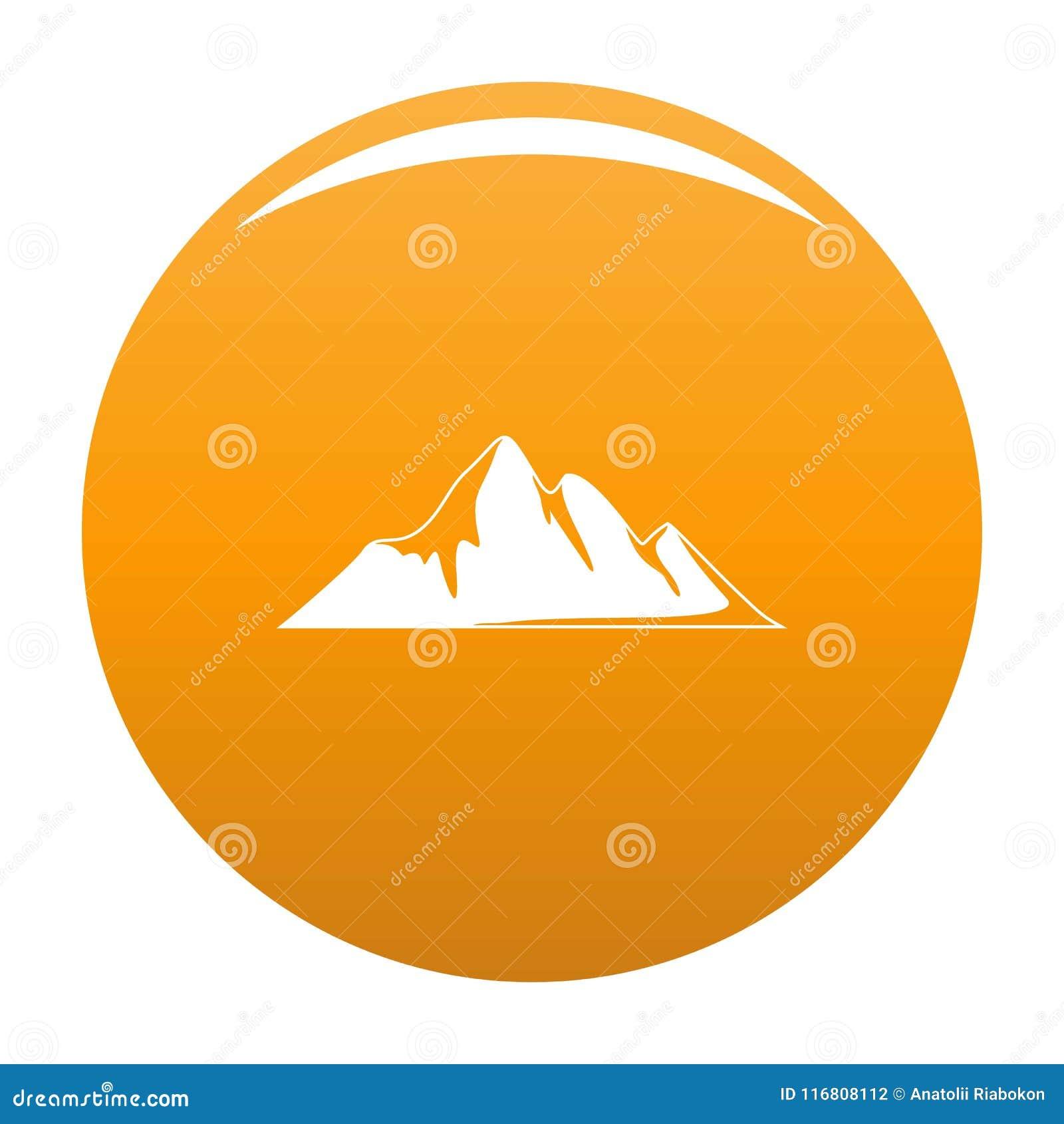 Arancia di vettore dell icona di avventura della montagna