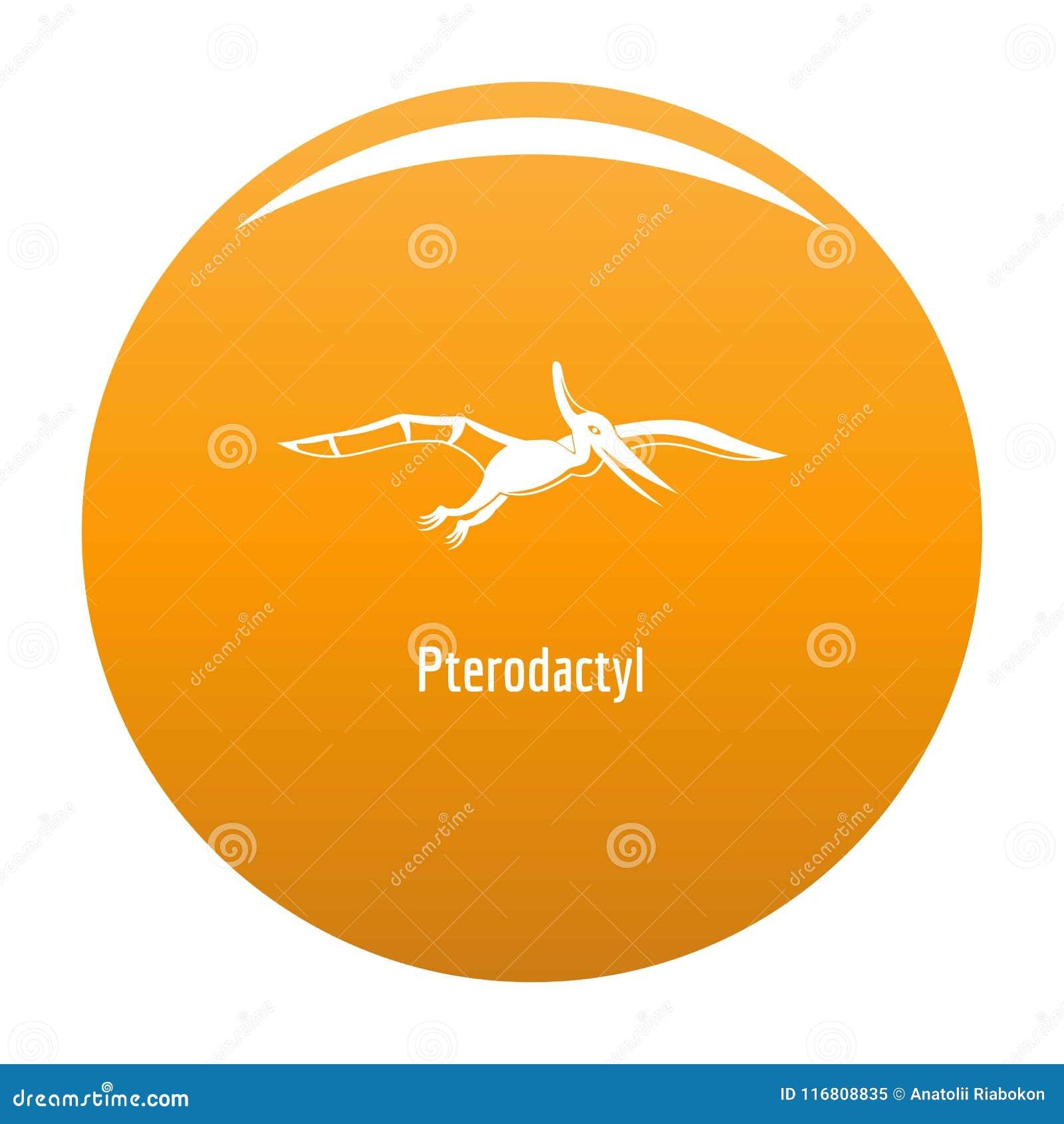Arancia di vettore dell icona del pterodattilo