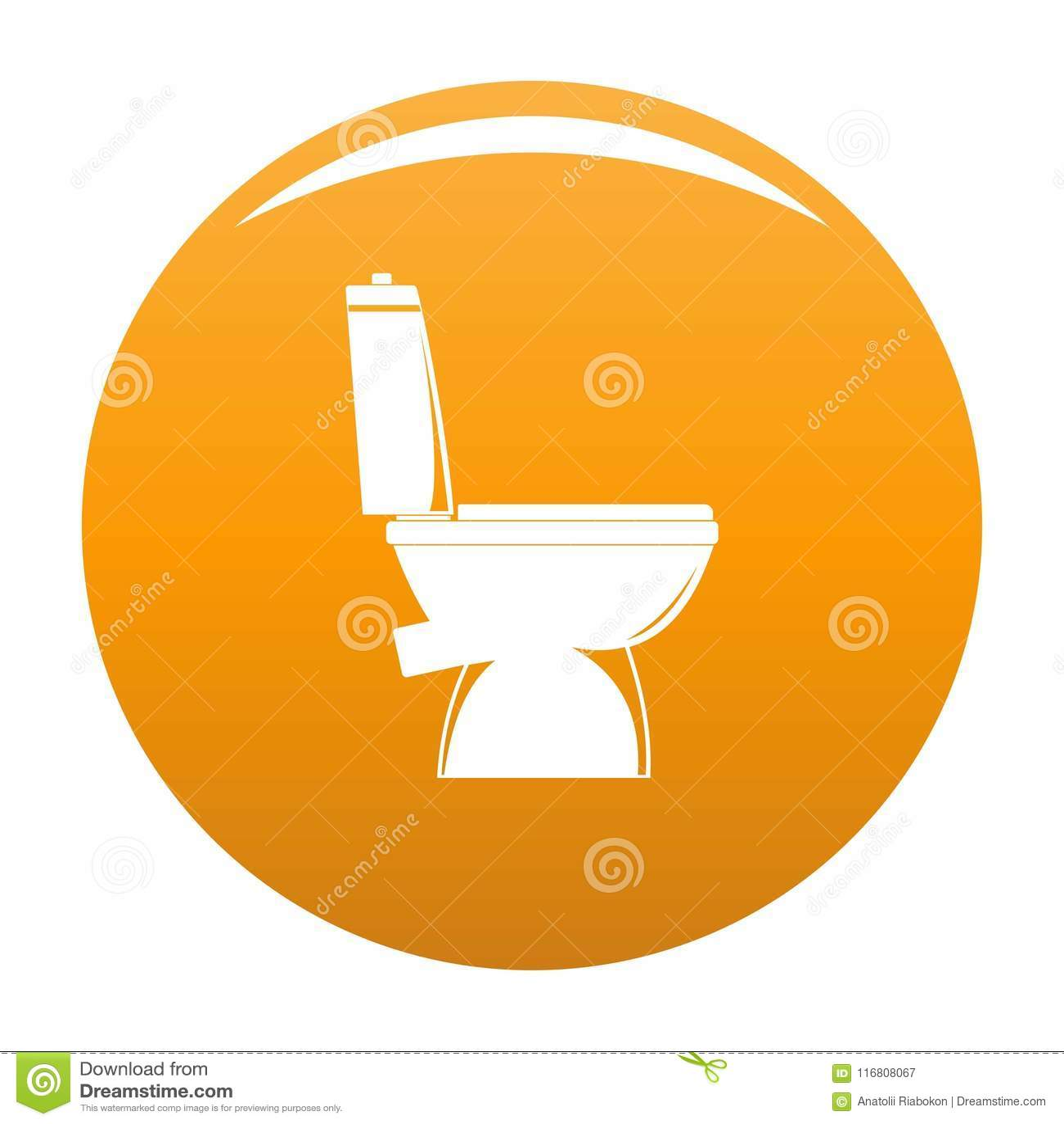 Arancia domestica di vettore dell icona della toilette
