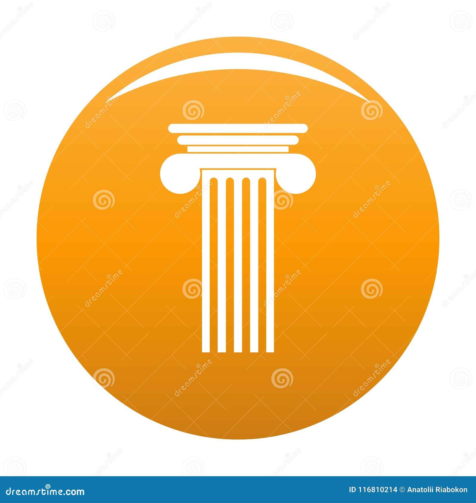 Arancia Polyhedral di vettore dell icona della colonna