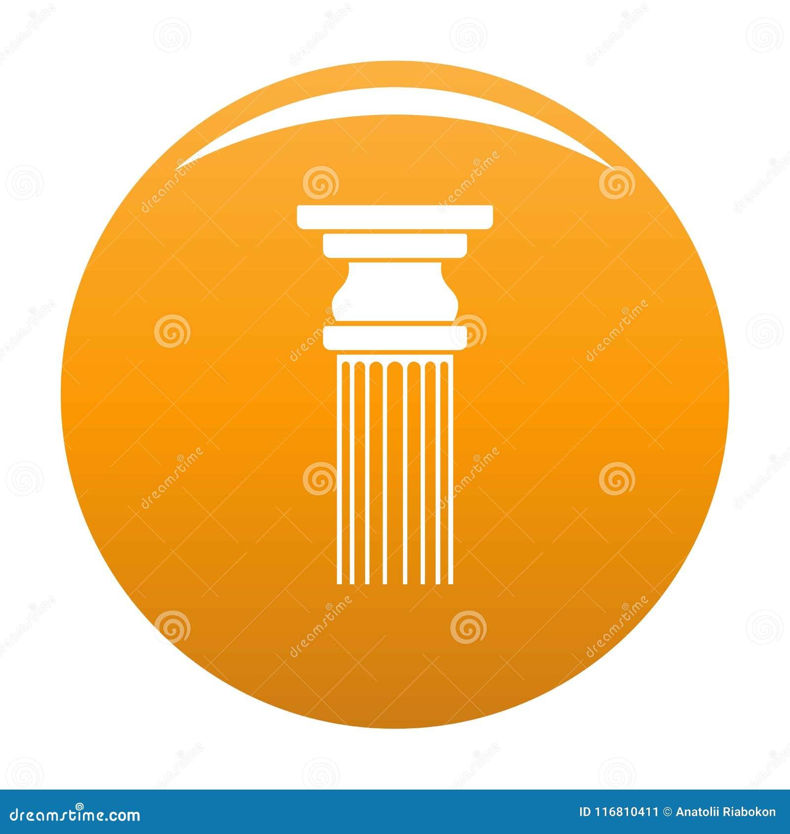 Arancia rettangolare di vettore dell icona della colonna