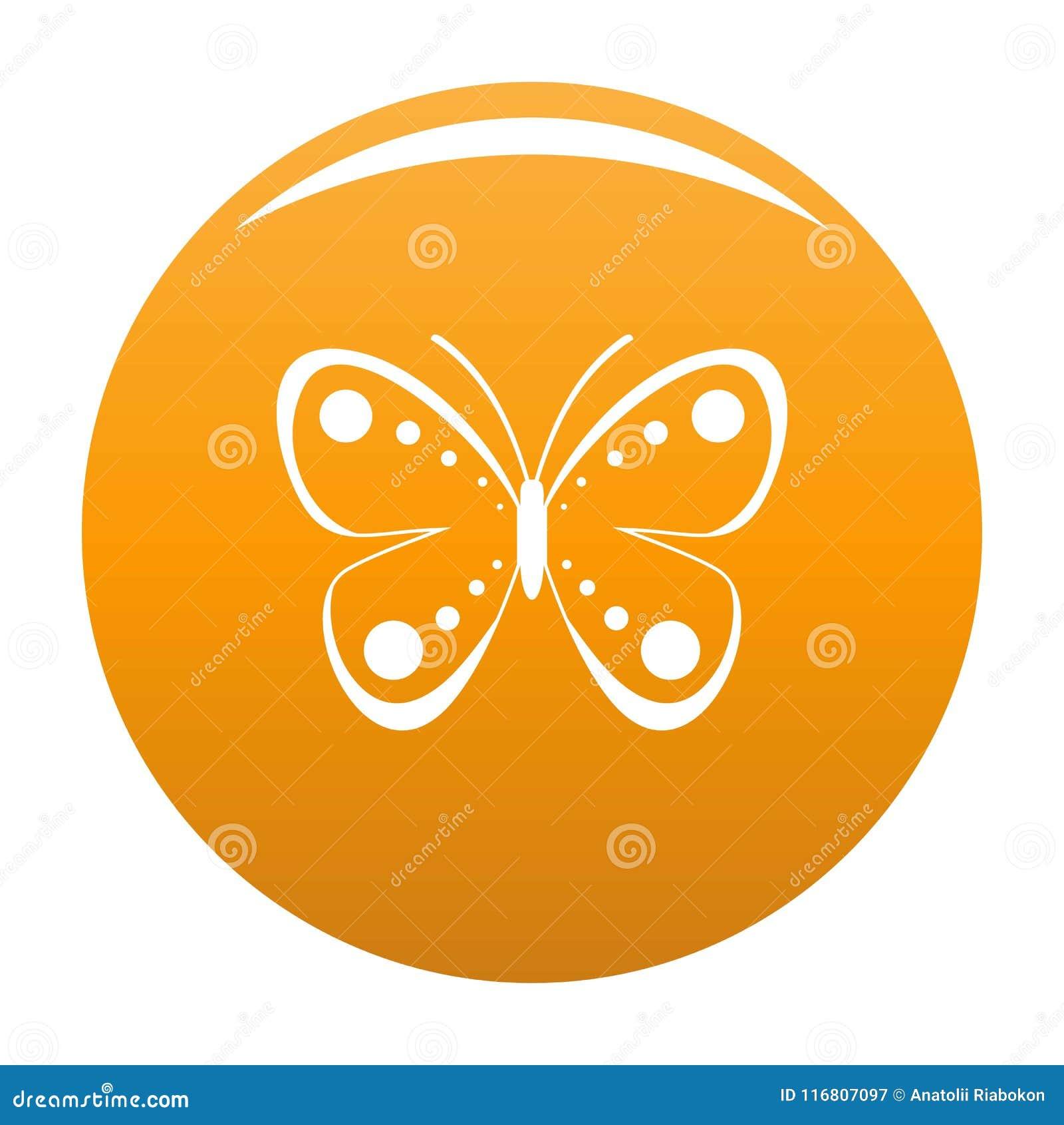 Arancia selvatica di vettore dell icona della farfalla