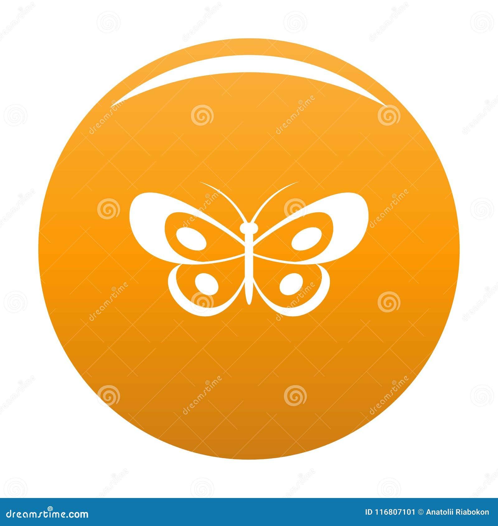 Arancia tropicale di vettore dell icona della farfalla