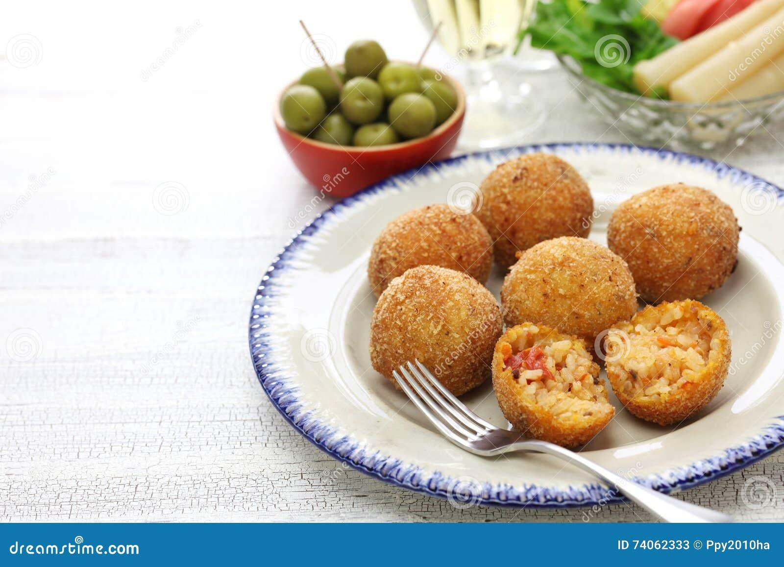Arancini Di Riso, Italian Risotto Rice Balls Stock Photo - Image ...
