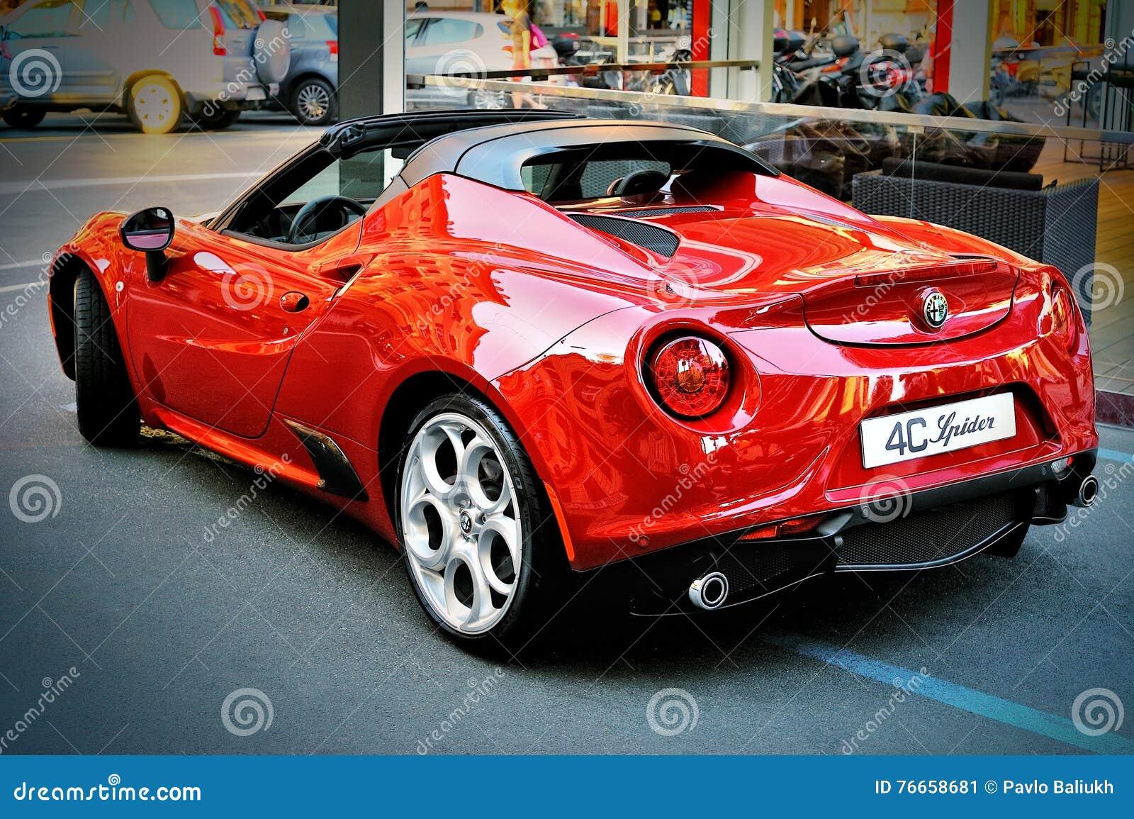 Aranha De Alfa Romeo 4c Na Excursao 2016 Do Verao Em Santa Margherita Foto Editorial Imagem De Excursao Romeo 76658681