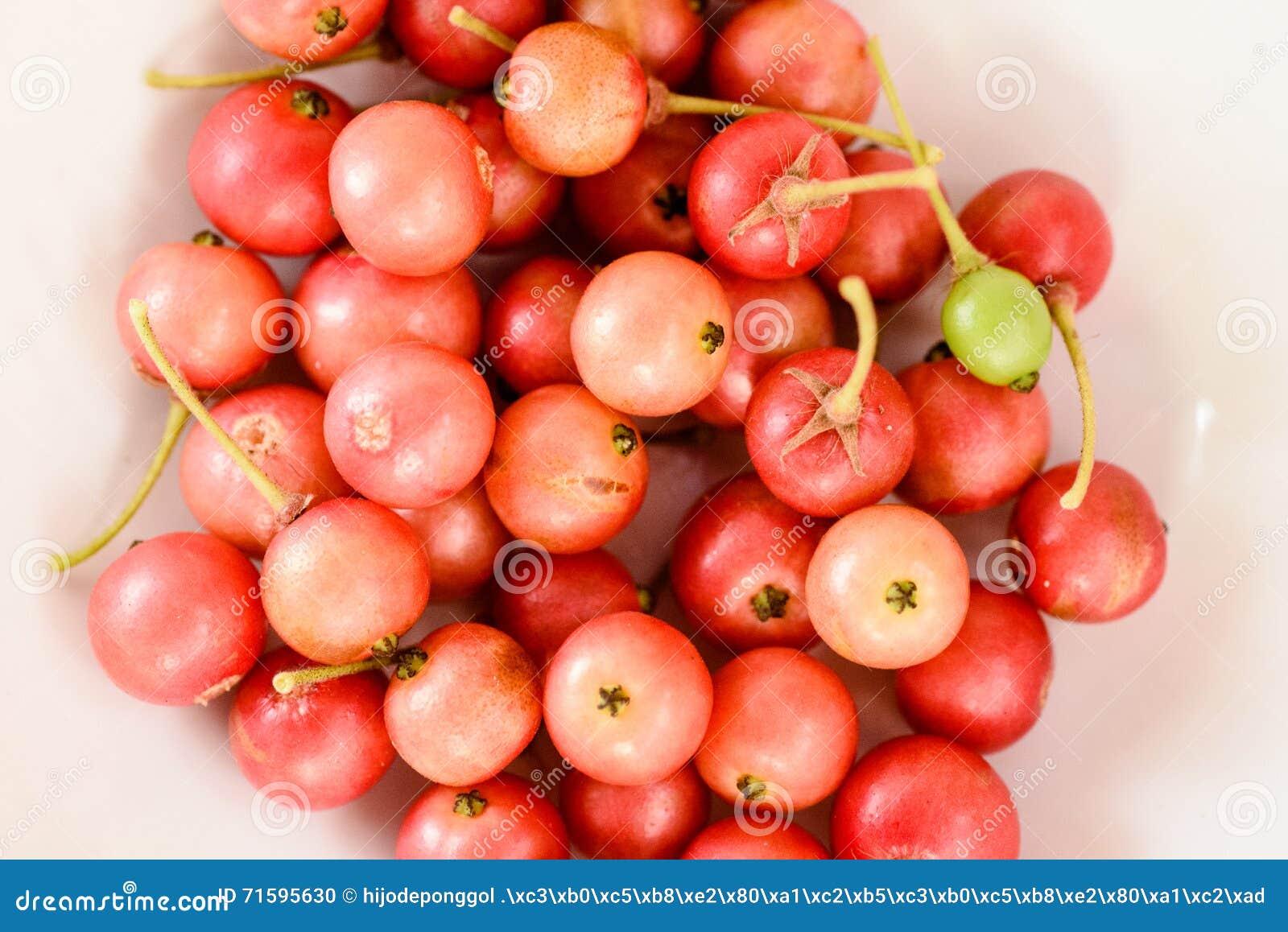 Aratilis Fruits In White Background Stock Photo - Image of