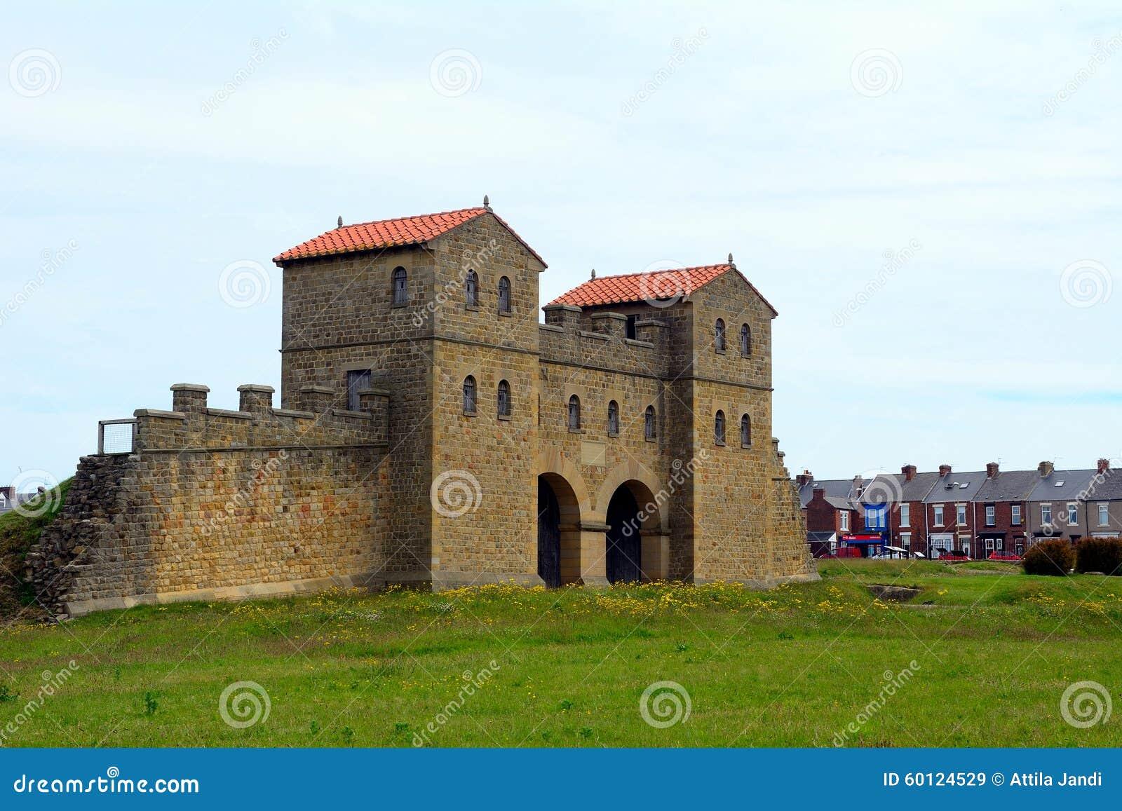 Arbeia romerskt fort, södra sköldar, England