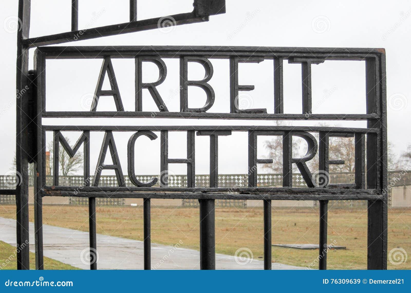 Arbeit Macht Frei - memorial do nacional de Sachsenhausen