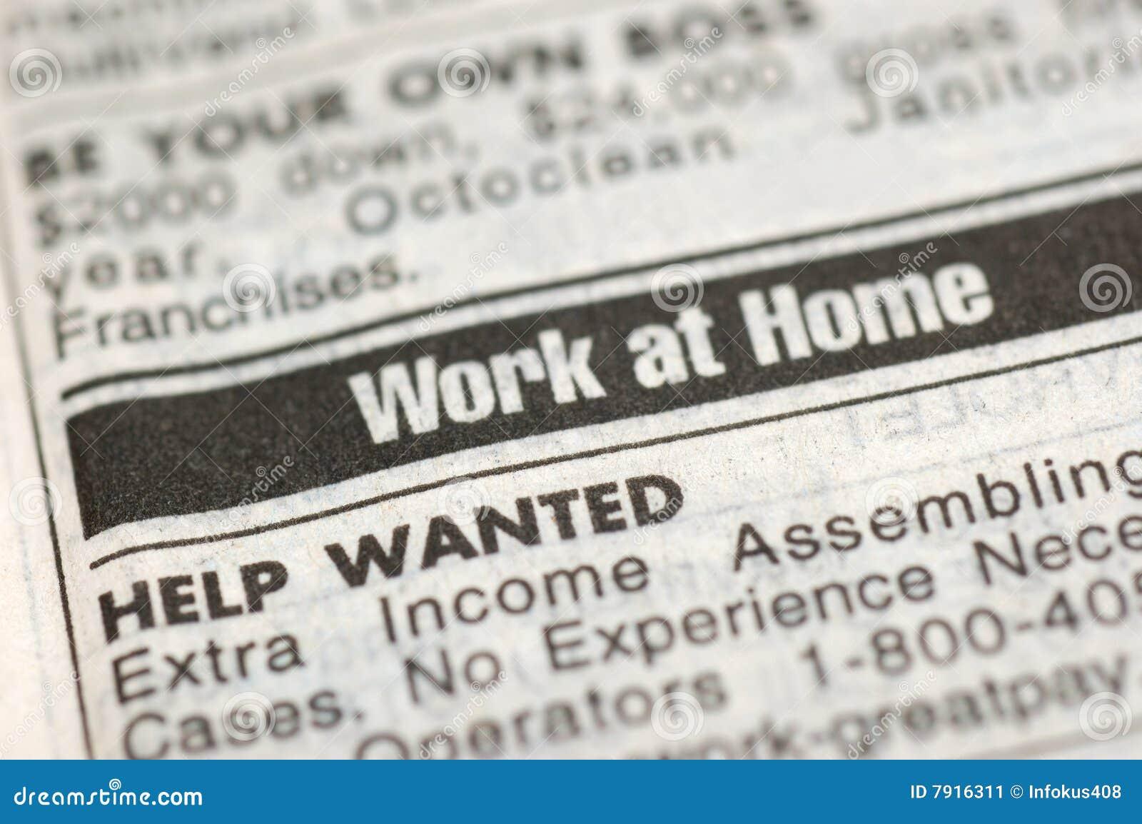 arbeit zu hause stockbild bild von arbeitslose jobs. Black Bedroom Furniture Sets. Home Design Ideas