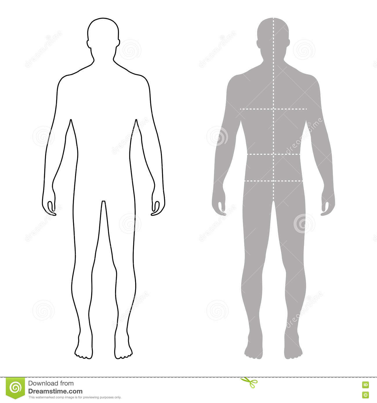 Costume Design Template Blank Male