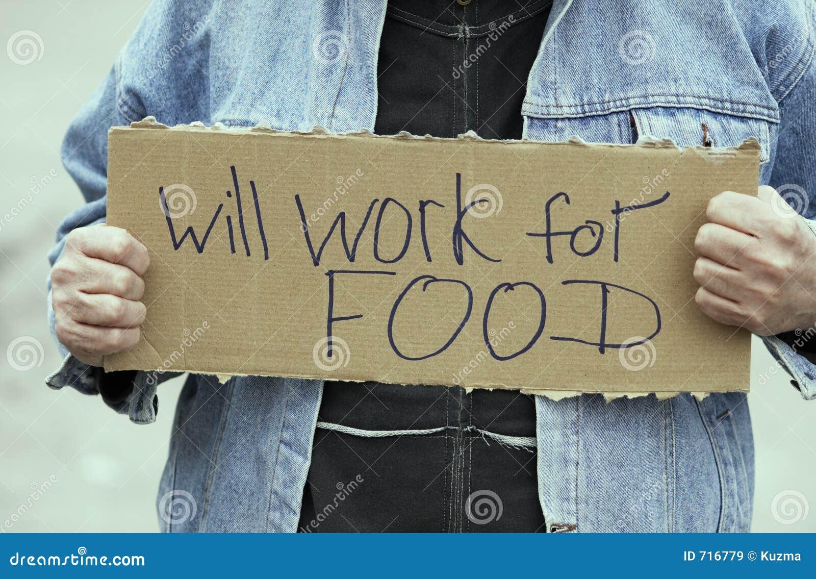 Arbeitet für Nahrung
