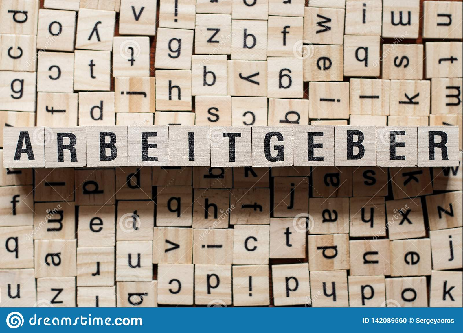 Arbeitgeber - word Employer on german language,word concept