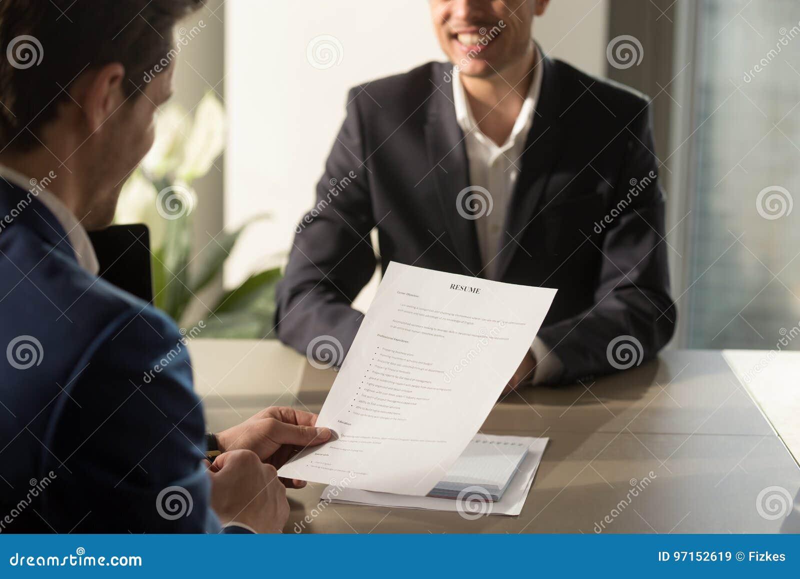 Arbeitgeberleitvorstellungsgespräch Gute Zusammenfassung Von Succ