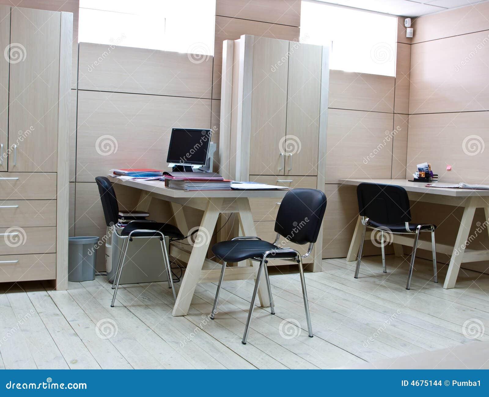 Arbeitsplatz Des Managers Im Modernen Buro Stockfoto Bild Von