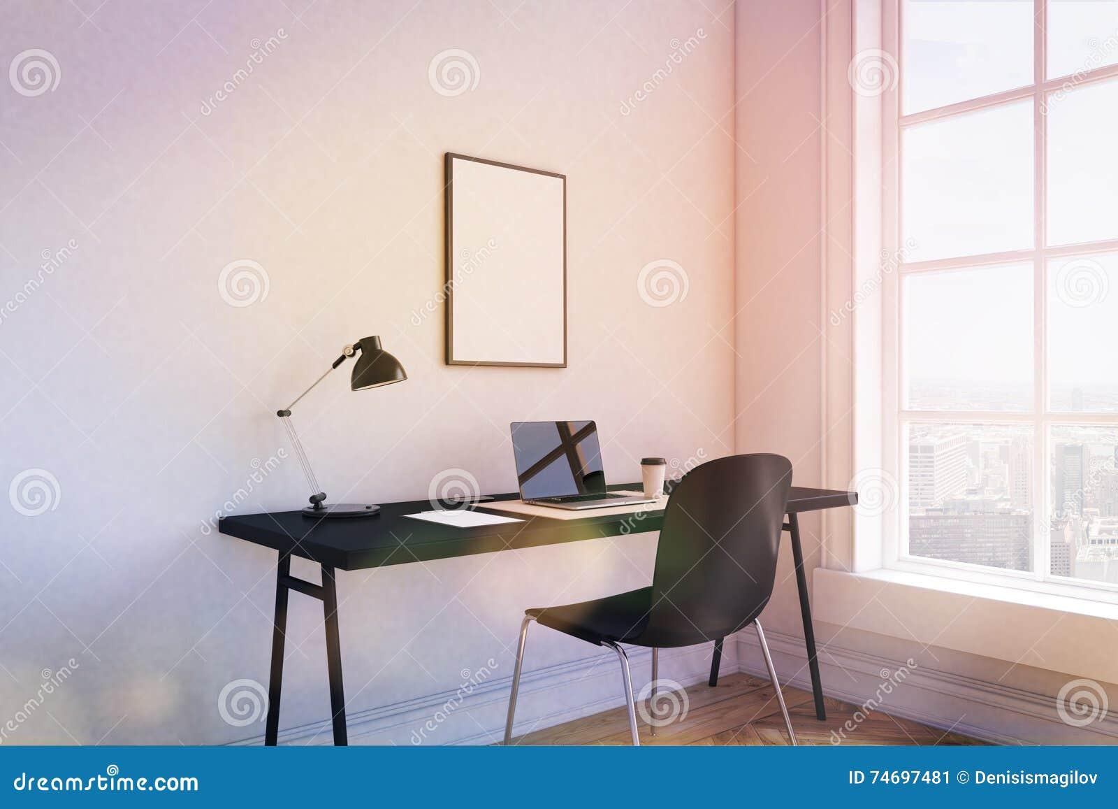 Arbeitsplatz zu Hause stock abbildung. Illustration von mock - 74697481
